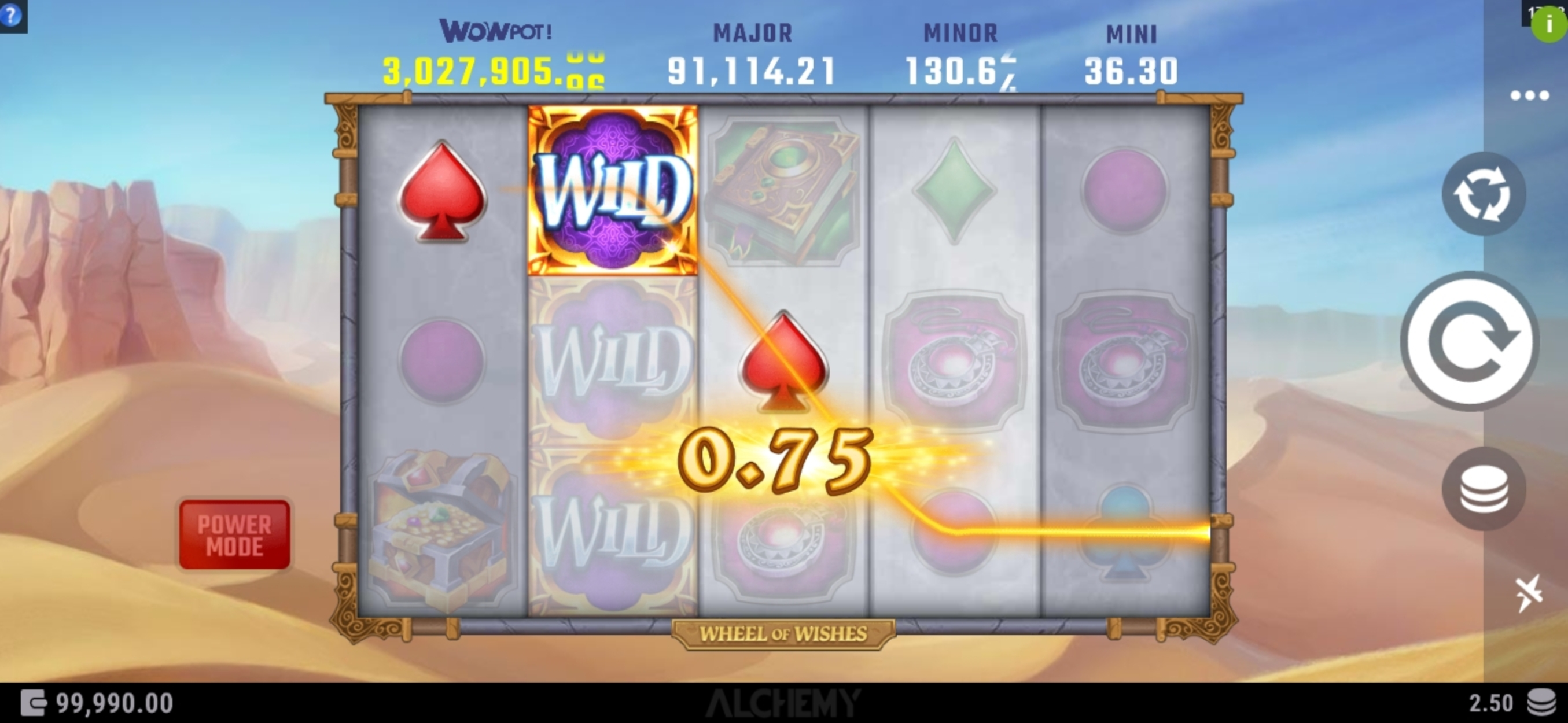 Win Money in Wheel Of Wishes Free Slot Game by Alchemy Gaming