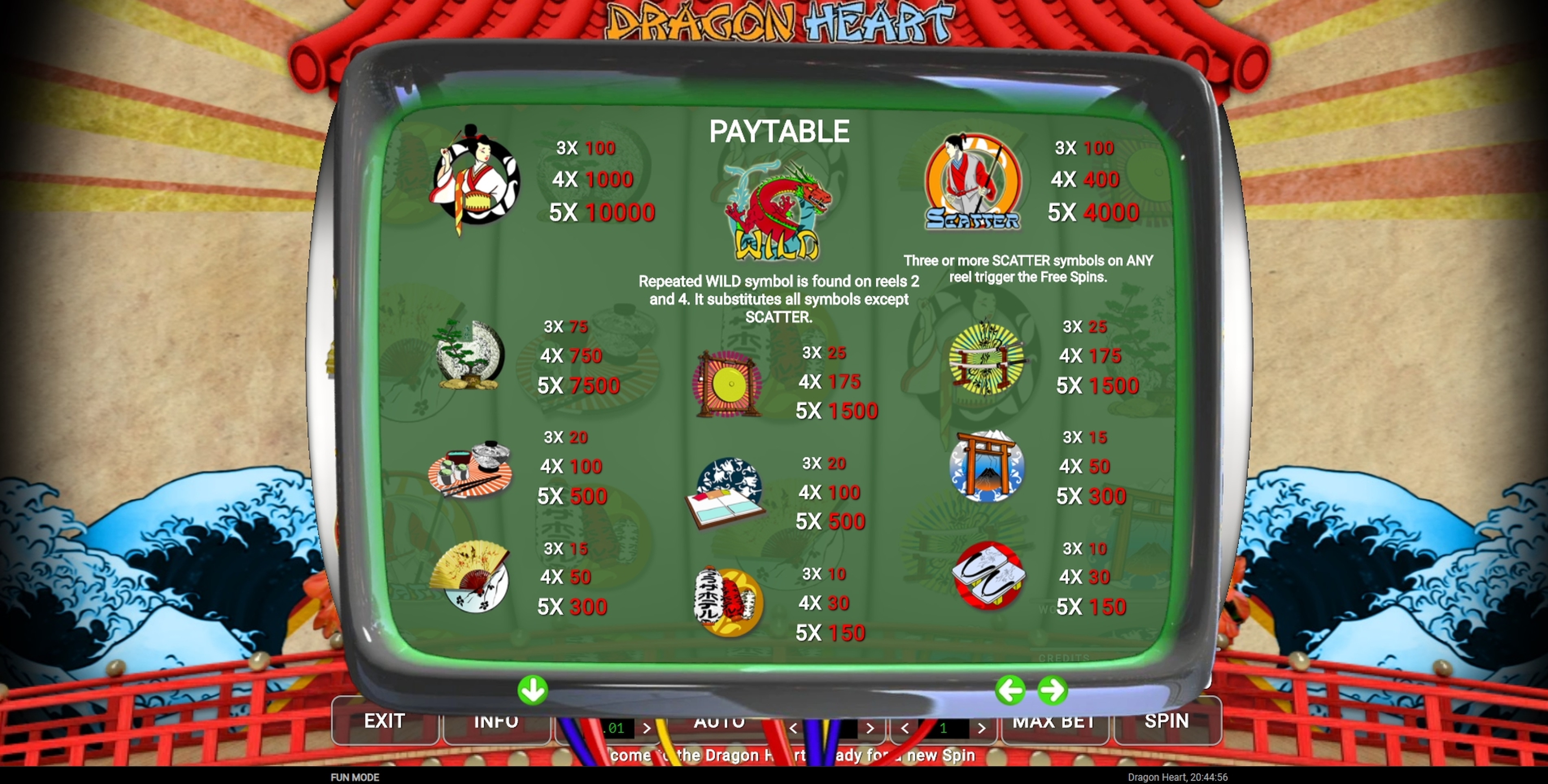 Info of Dragon Heart Slot Game by CQ9Gaming