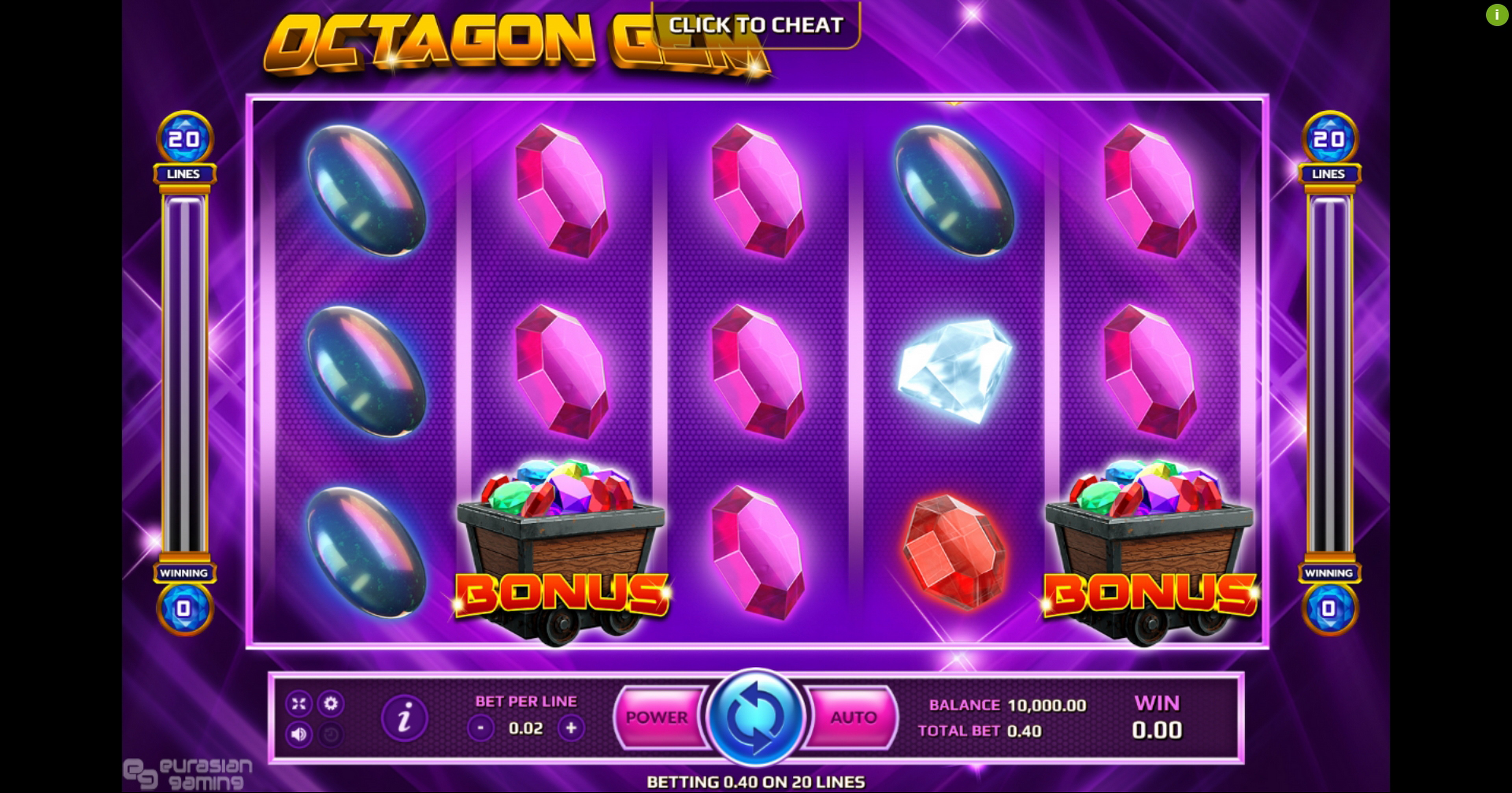 Reels in Octagon Gem Slot Game by EAgaming