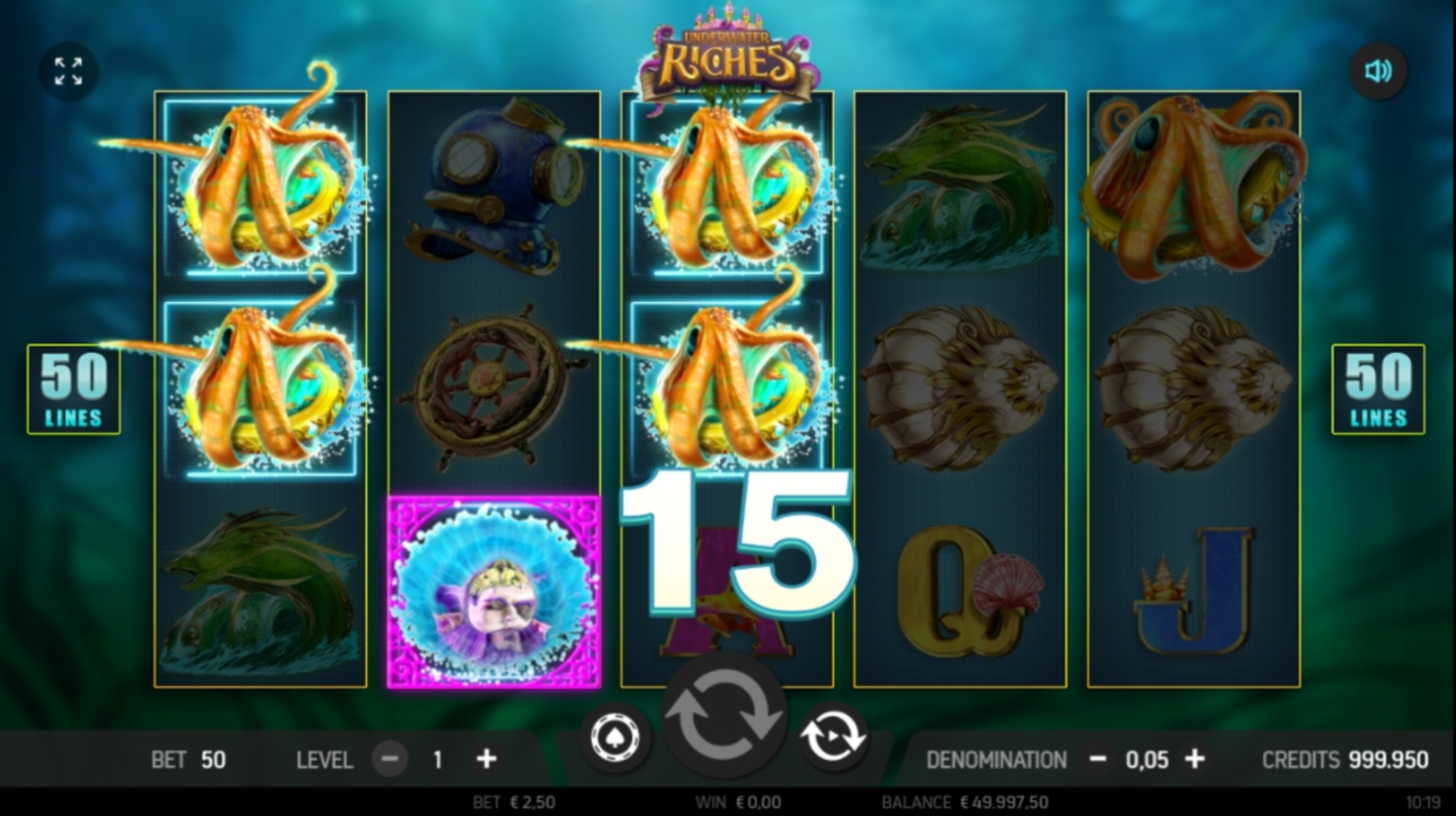 Win Money in Underwater Riches Free Slot Game by FBM