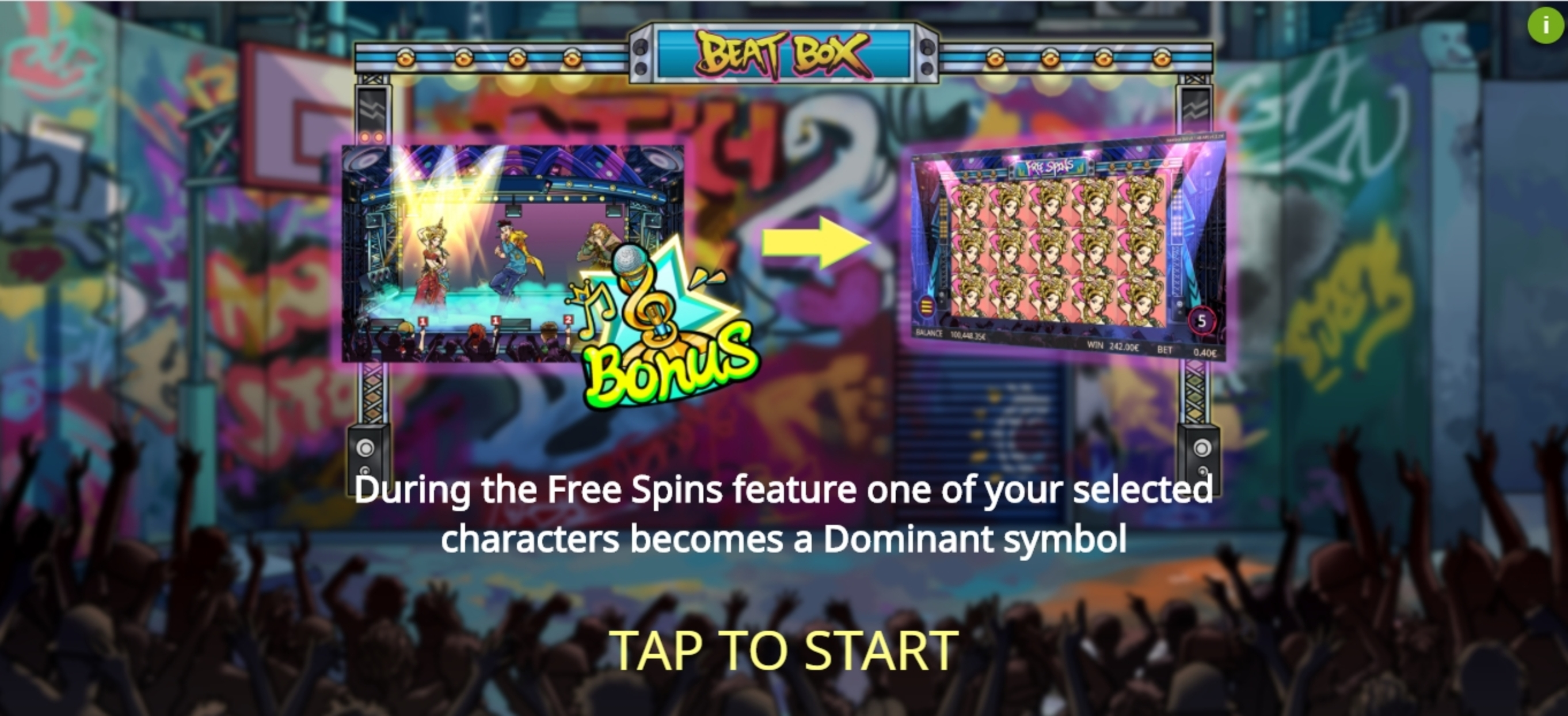 Play Beat Box Free Casino Slot Game by Gamatron