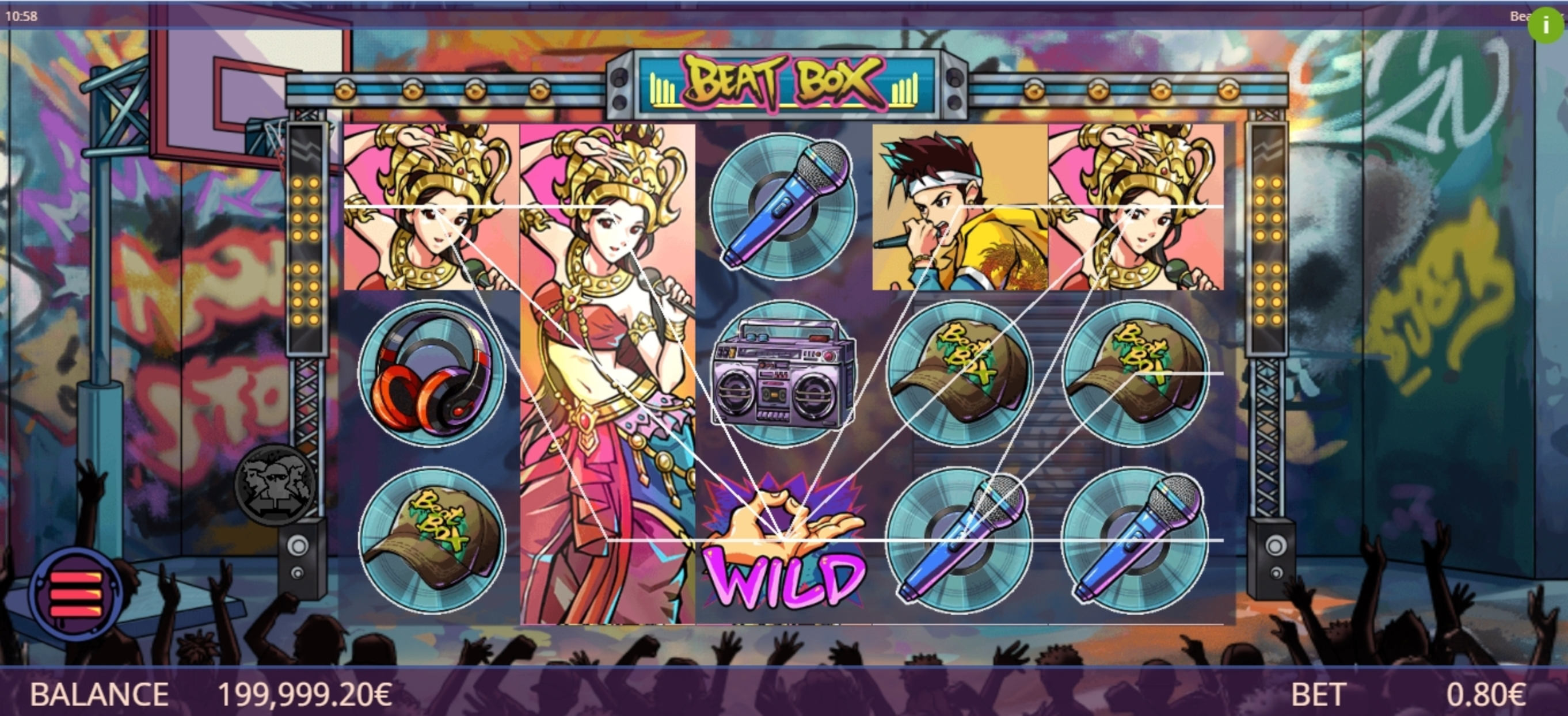 Win Money in Beat Box Free Slot Game by Gamatron