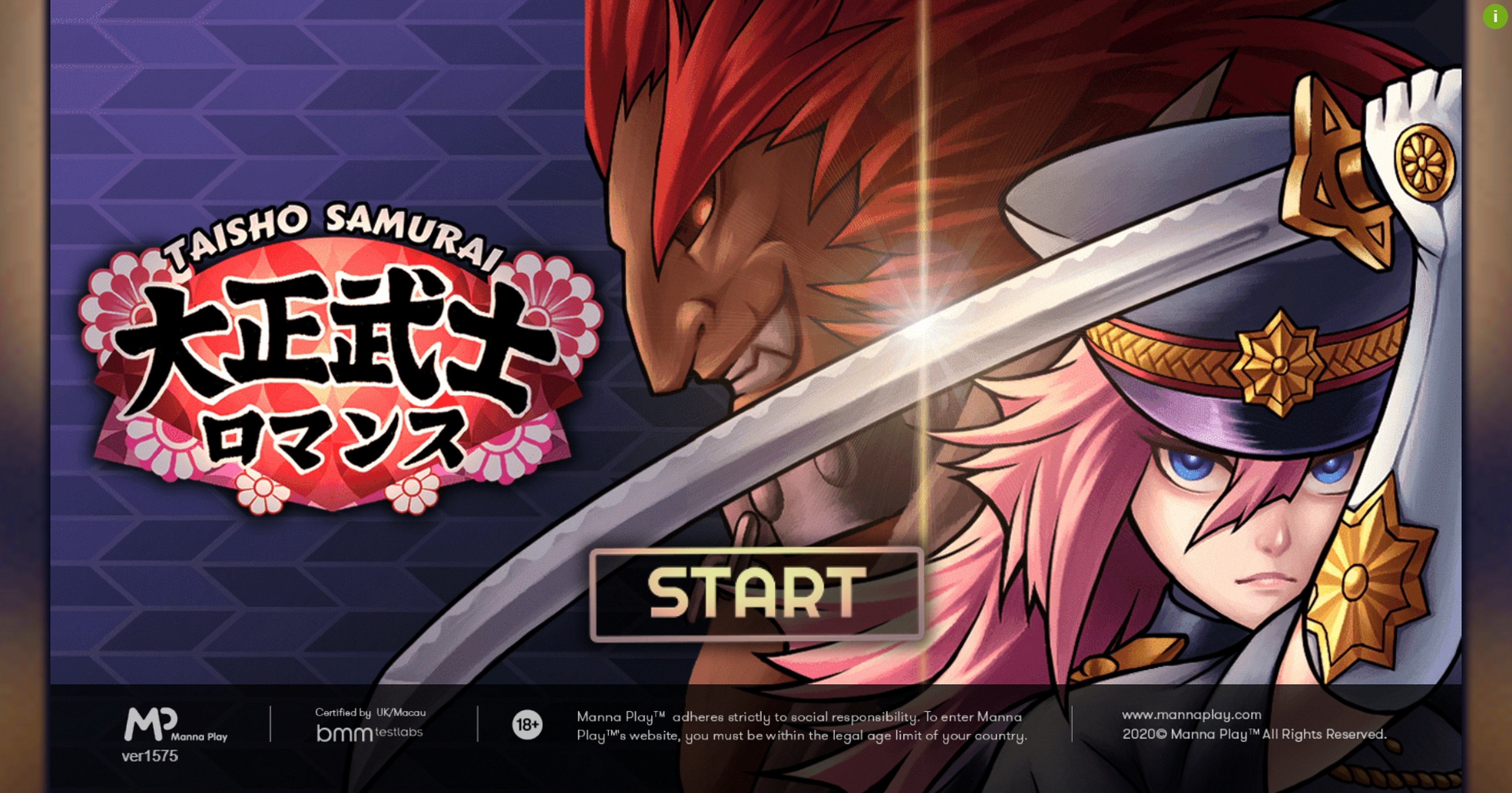 Play Taisho Samurai Free Casino Slot Game by Manna Play