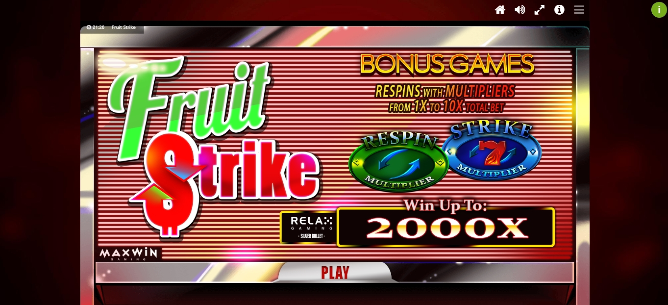 Play Fruit Strike (Max Win Gaming) Free Casino Slot Game by Max Win Gaming