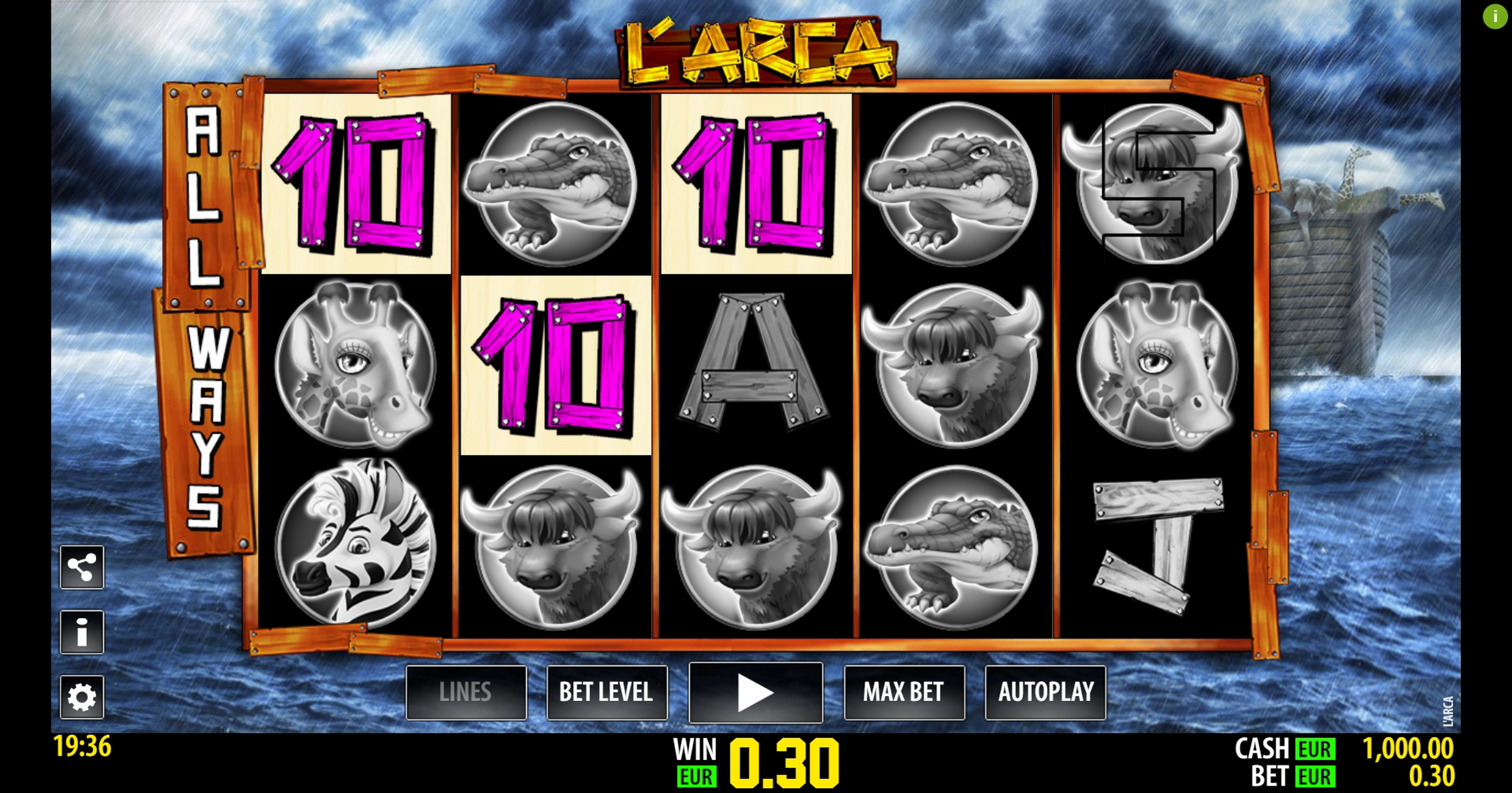 Win Money in L'Arca Free Slot Game by Nazionale Elettronica