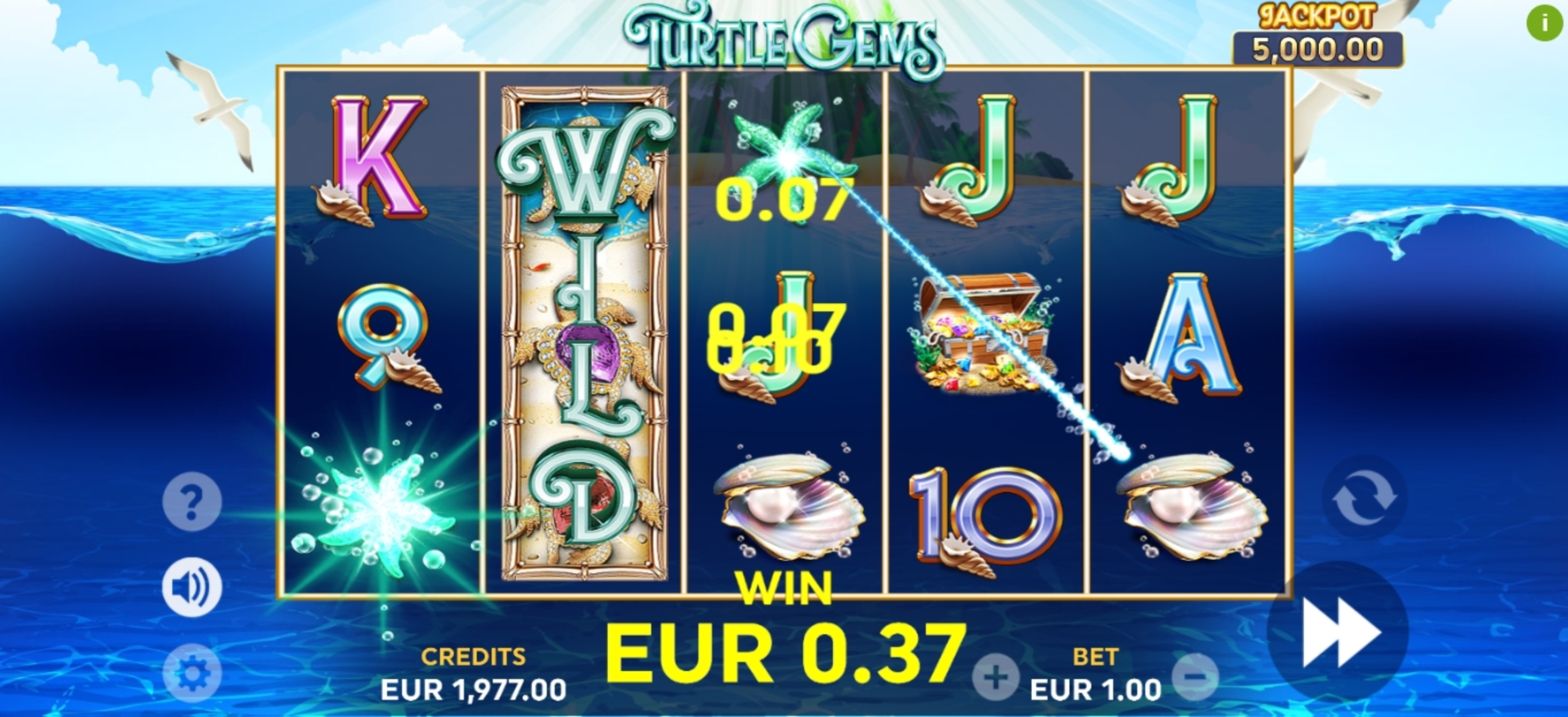 Win Money in Turtle Gems Free Slot Game by Playlogics