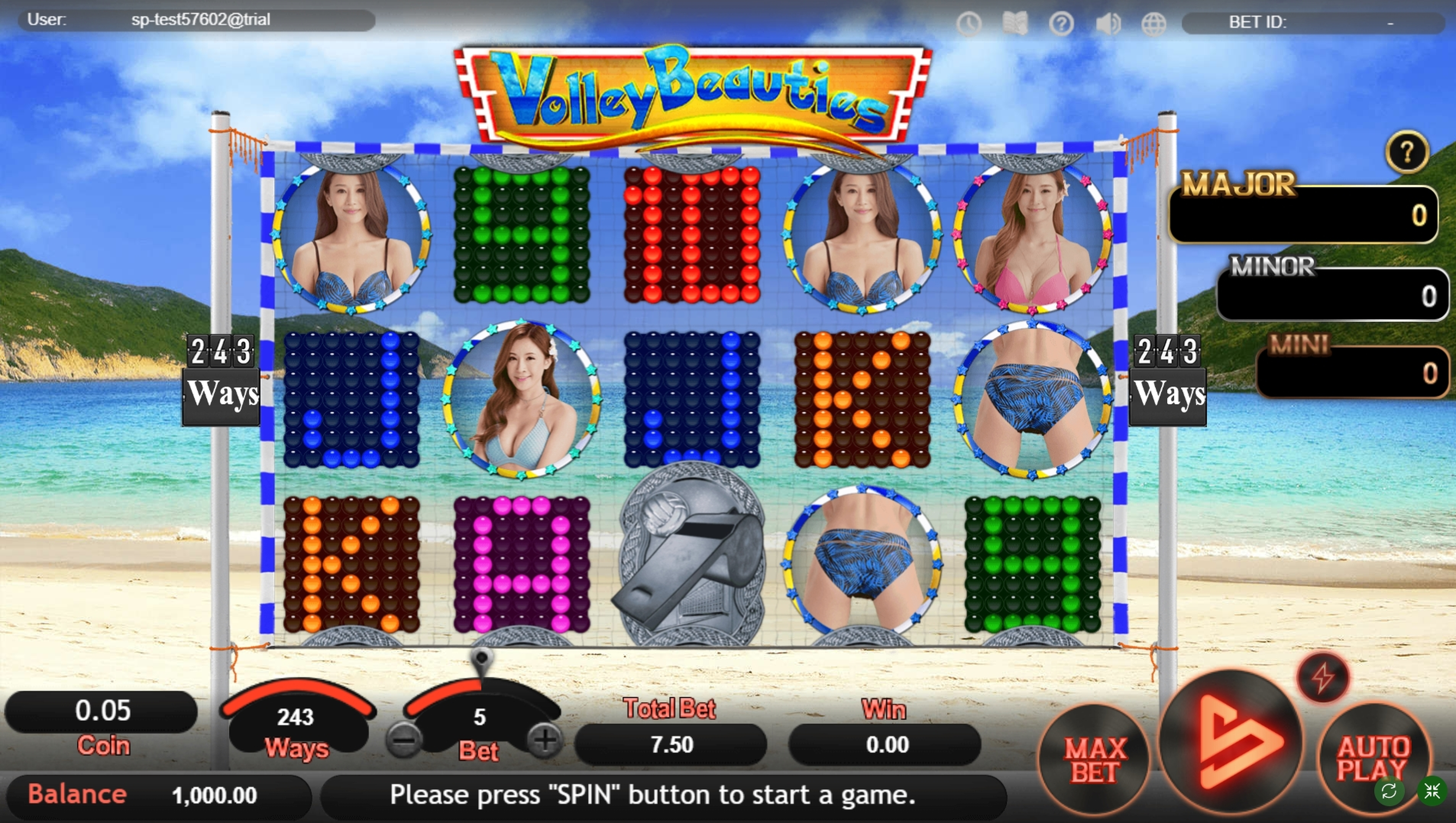 Reels in Volley Beauties Slot Game by SimplePlay