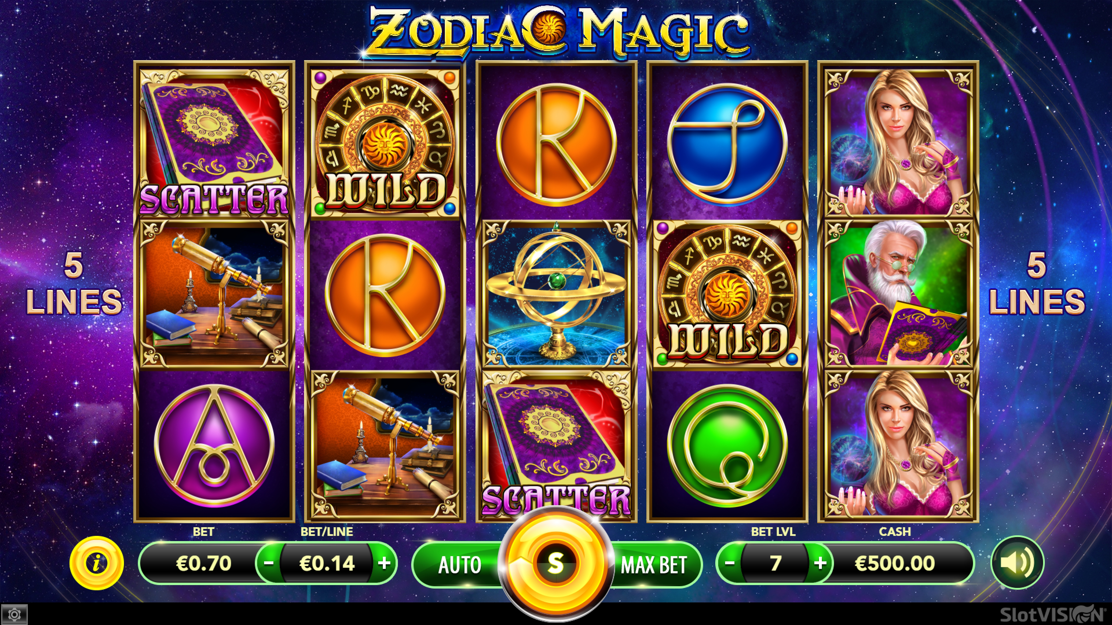 The Zodiac Magic Online Slot Demo Game by SlotVision