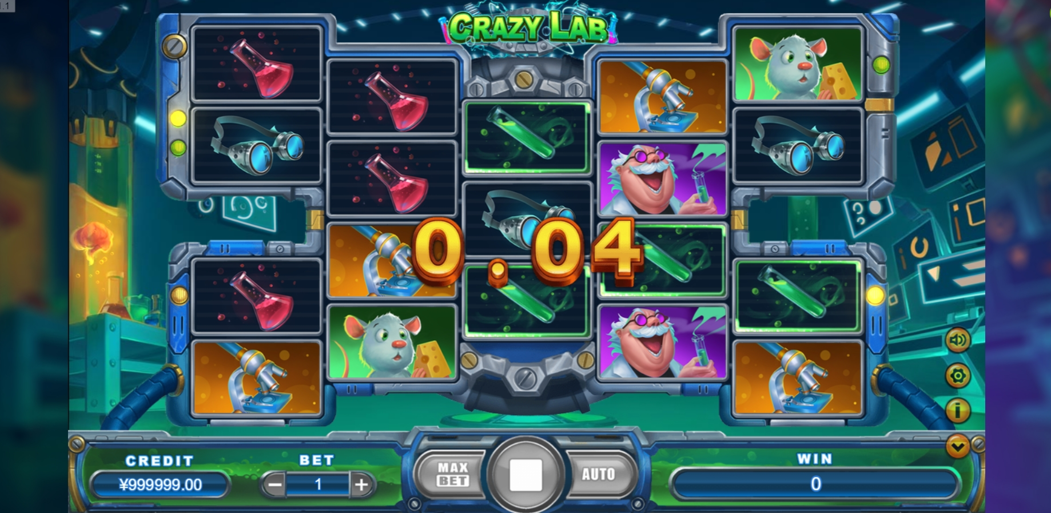 Win Money in Crazy Lab Free Slot Game by TIDY
