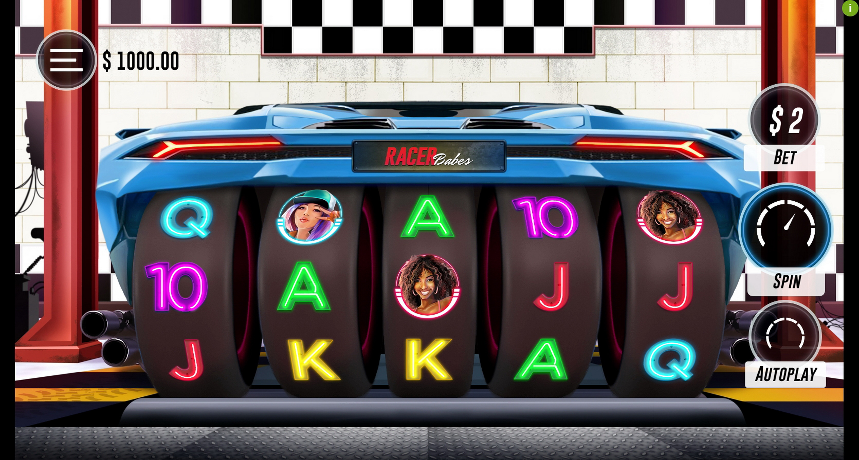 Reels in Racer Babes Slot Game by Woohoo
