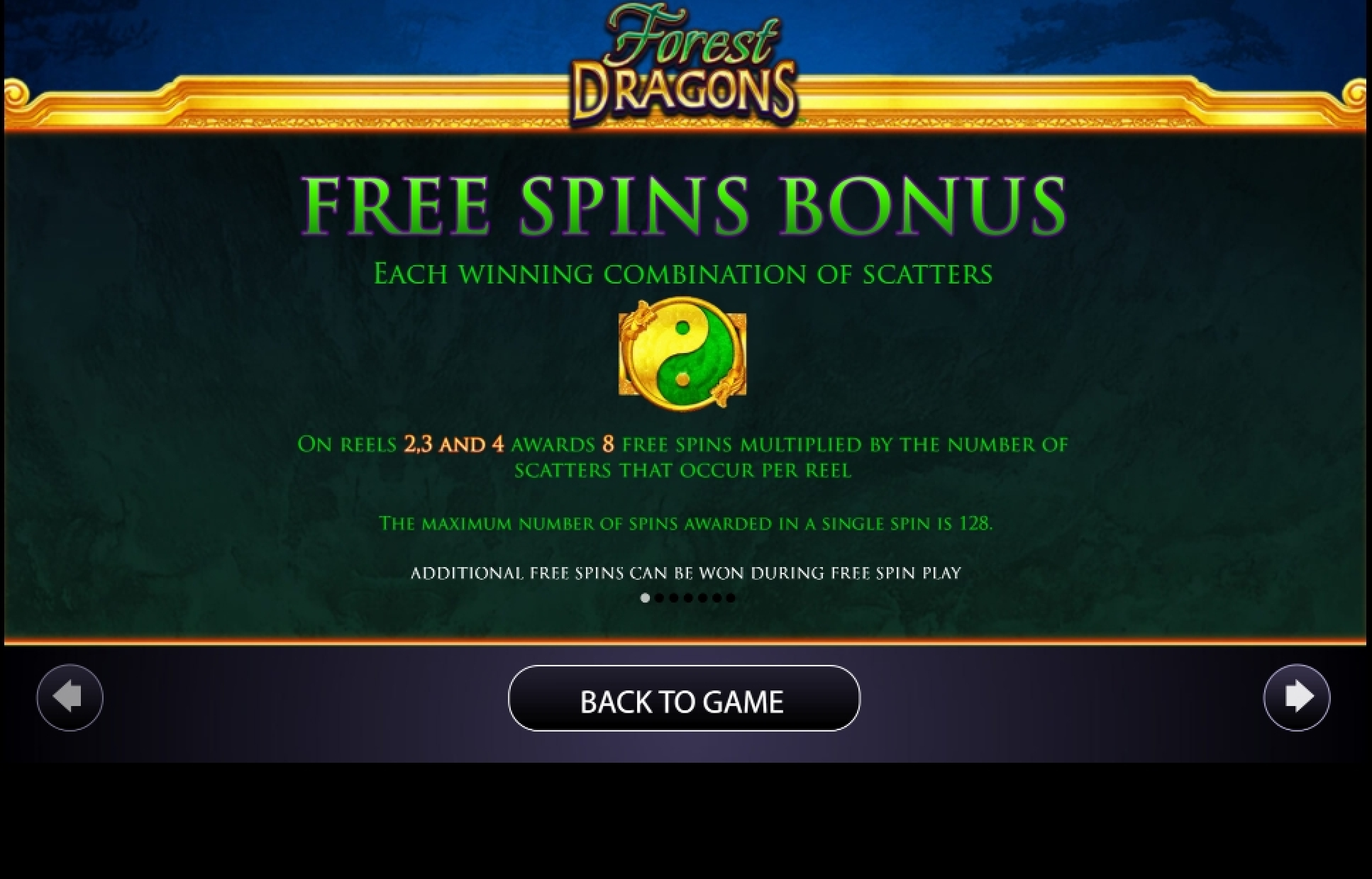 Info of Forest Dragons Slot Game by AGS