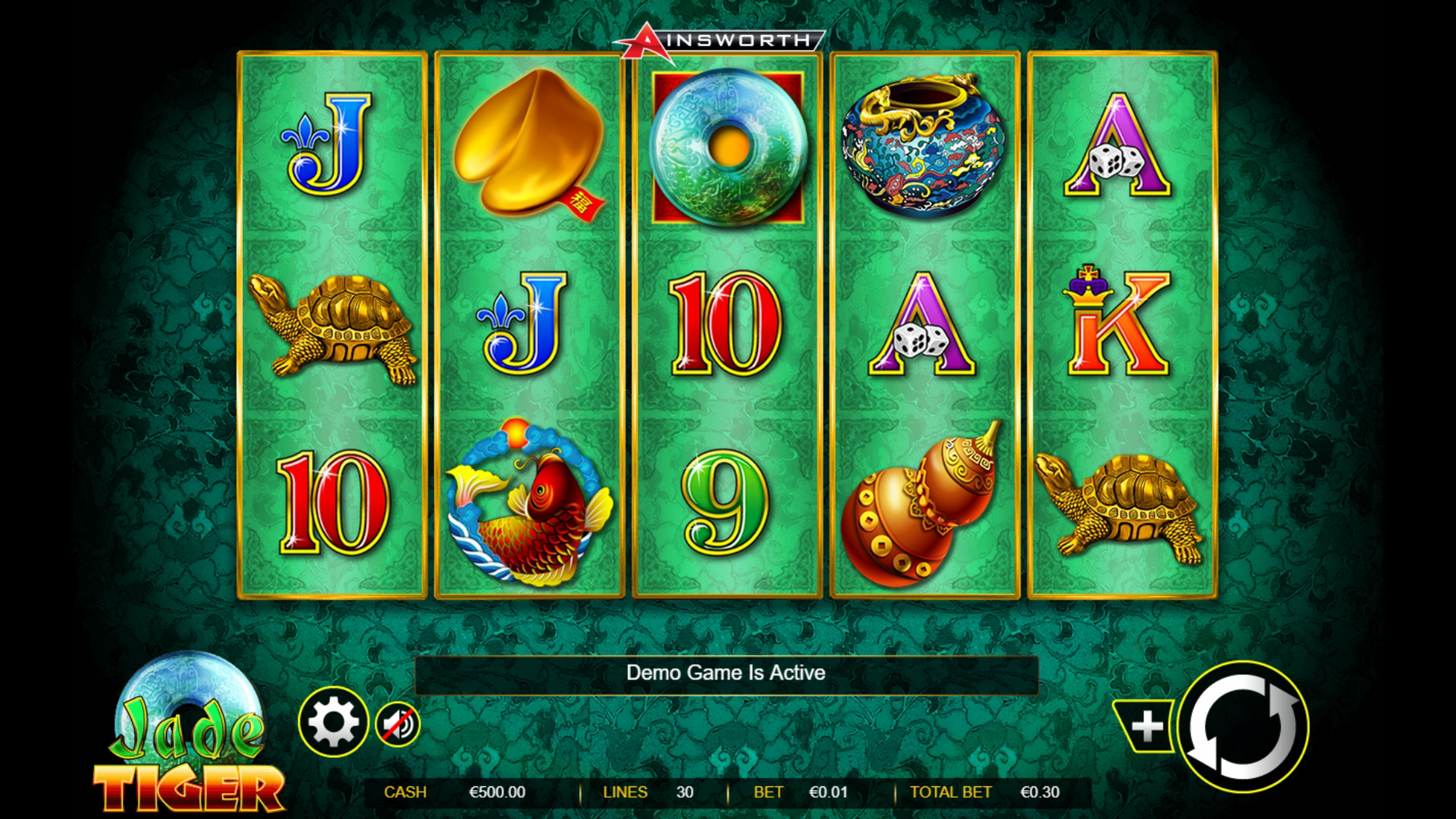 Reels in Jade Tiger Slot Game by Ainsworth Gaming Technology