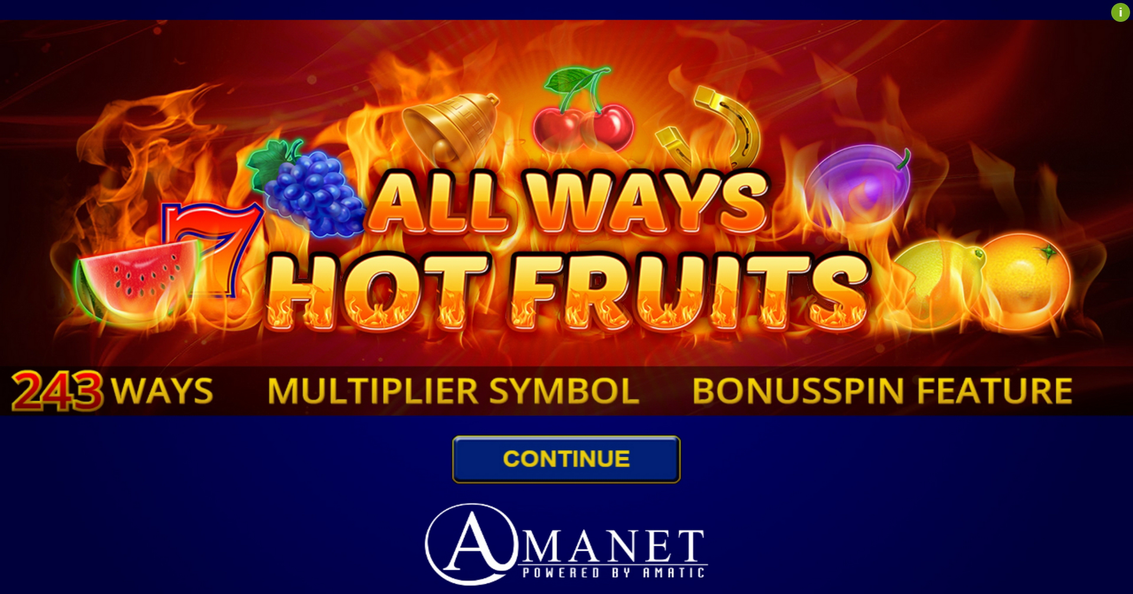 Play Always Hot Fruits Free Casino Slot Game by Amatic Industries