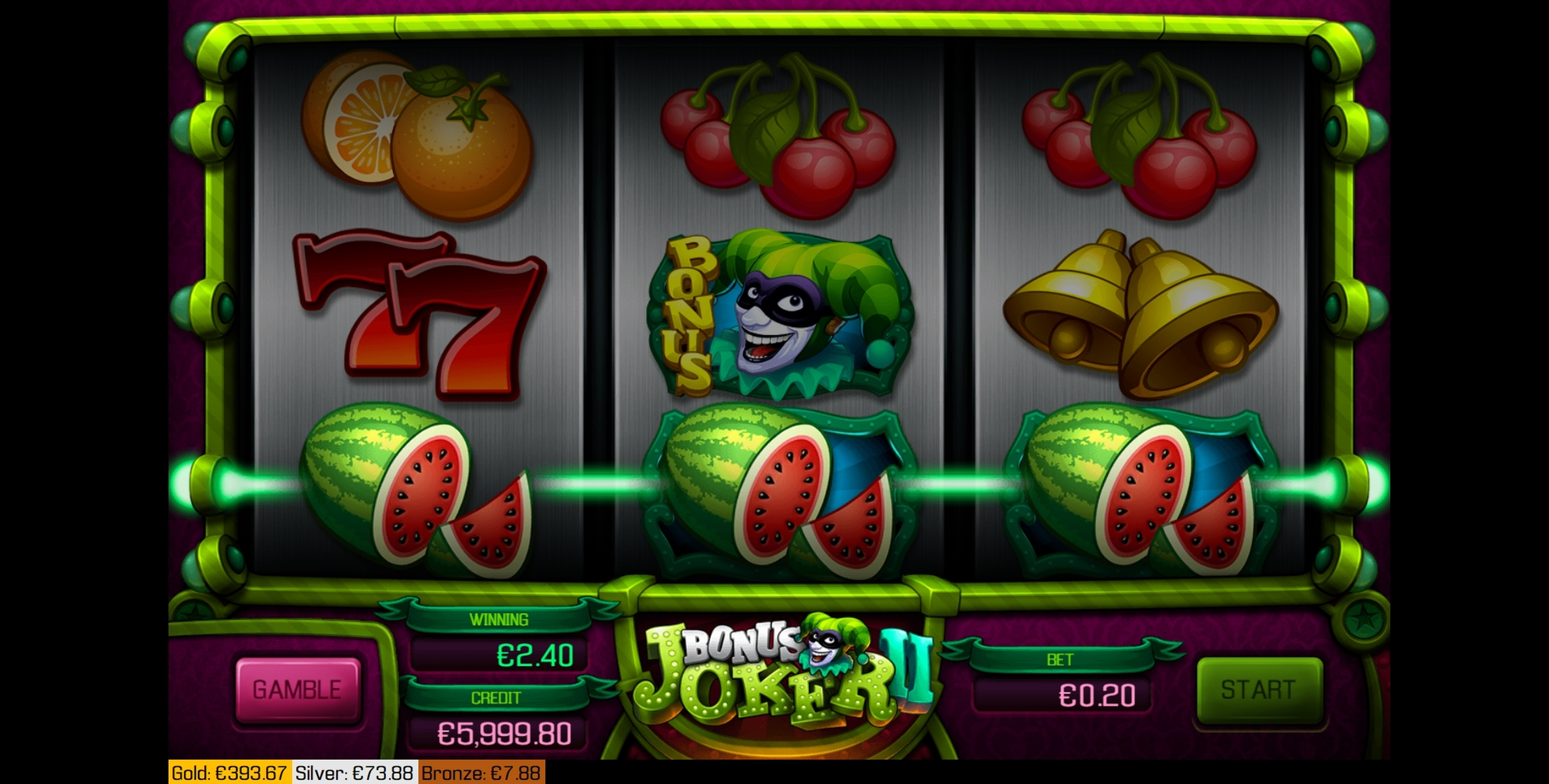 Win Money in Bonus Joker 2 Free Slot Game by Apollo Games
