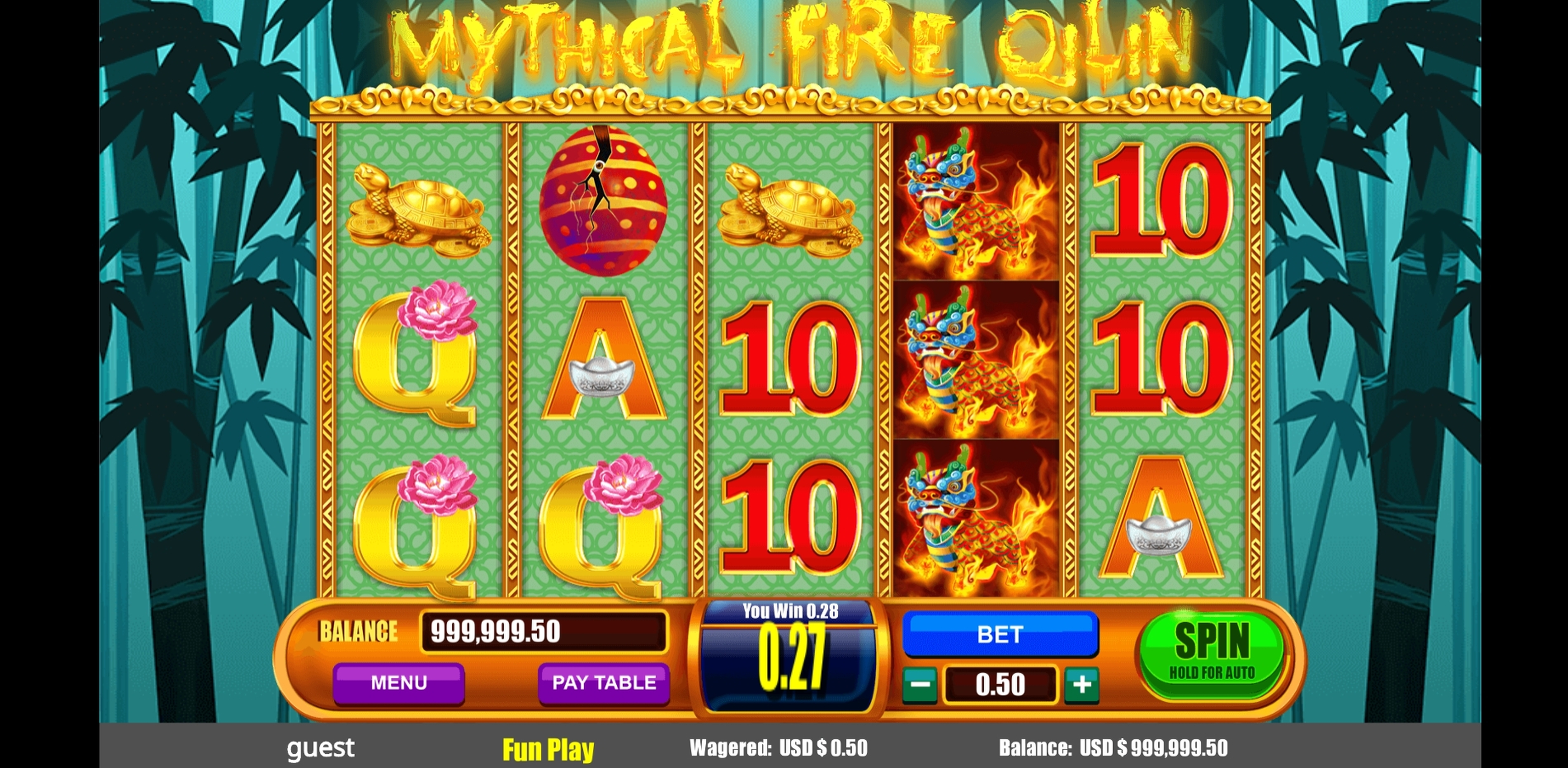 Win Money in Mythical Fire Qilin Free Slot Game by August Gaming