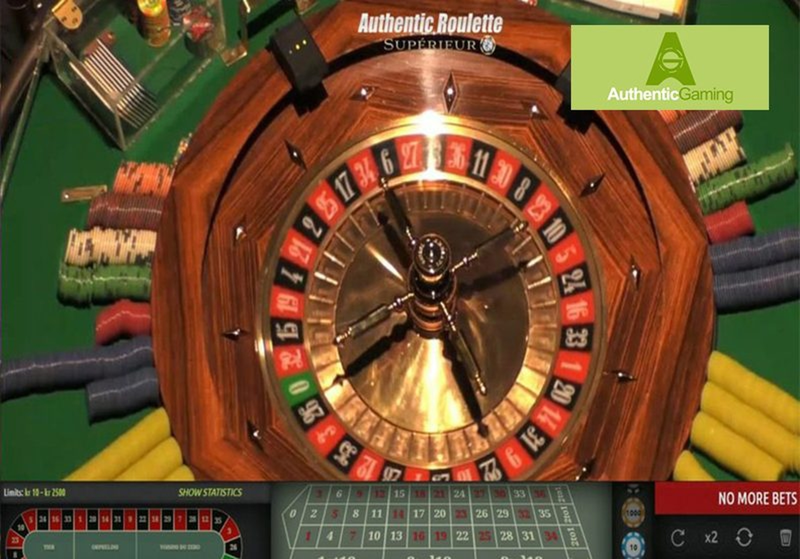 The Roulette Superieur Live Casino Online Slot Demo Game by Authentic Gaming