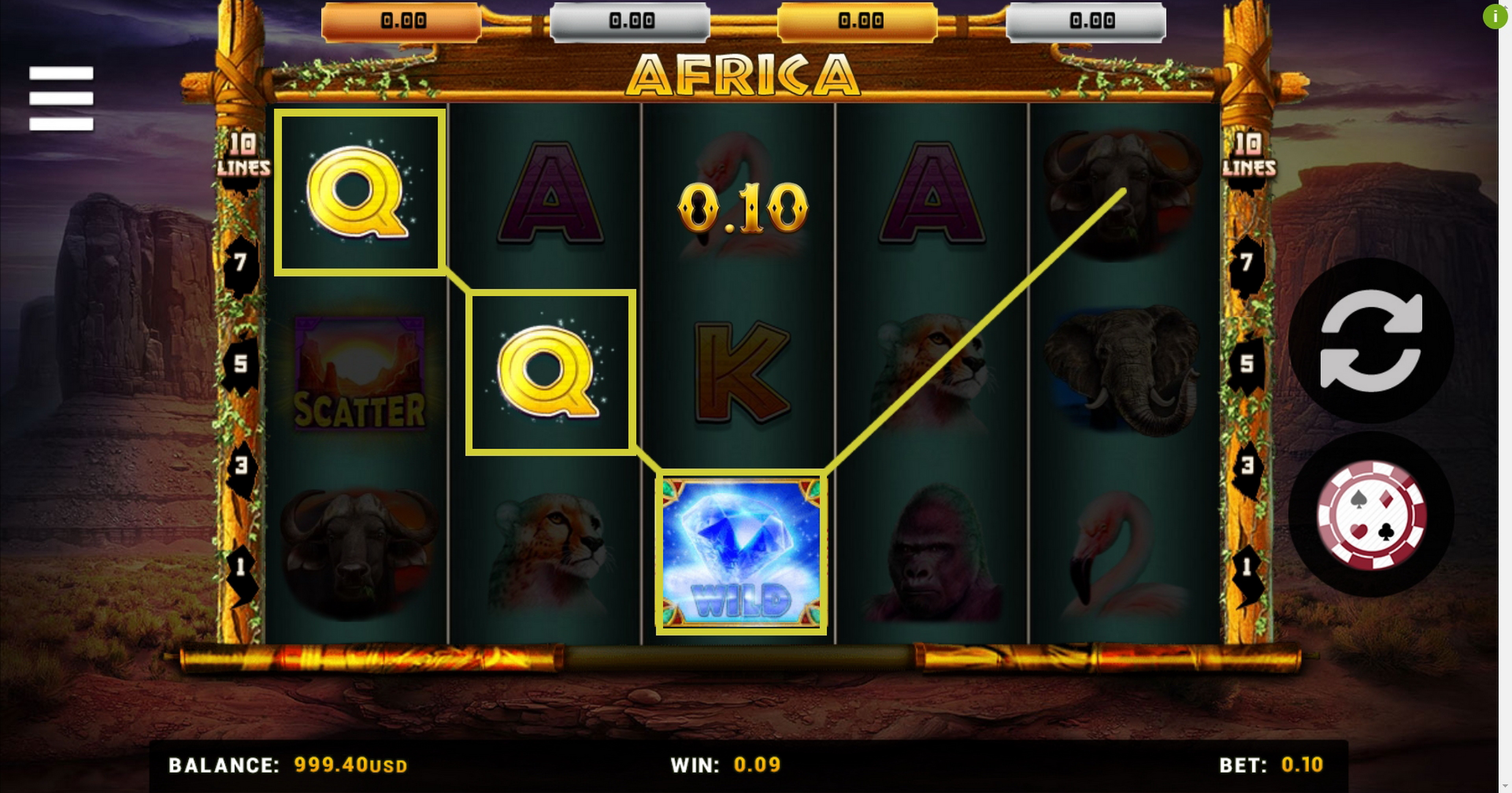 Win Money in Africa (Betsense) Free Slot Game by Betsense