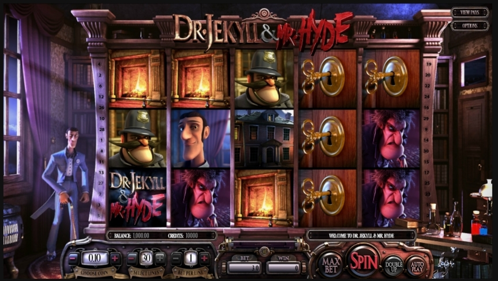 Reels in Dr. Jekyll & Mr. Hyde Slot Game by Betsoft