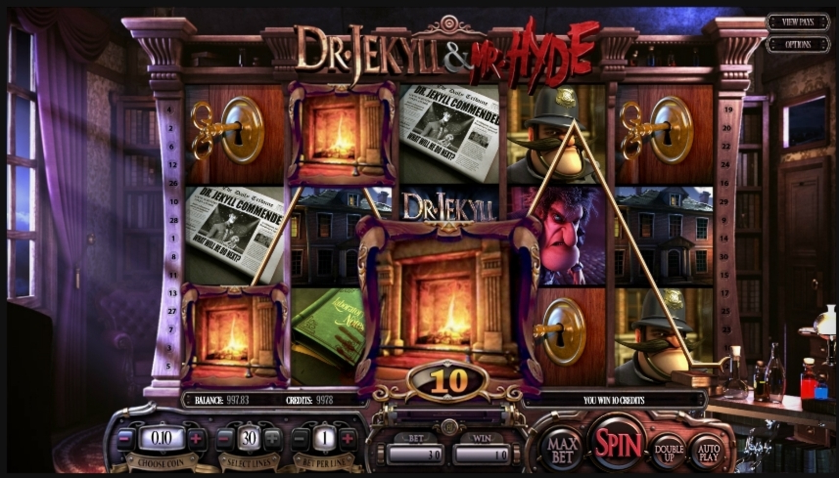 Win Money in Dr. Jekyll & Mr. Hyde Free Slot Game by Betsoft