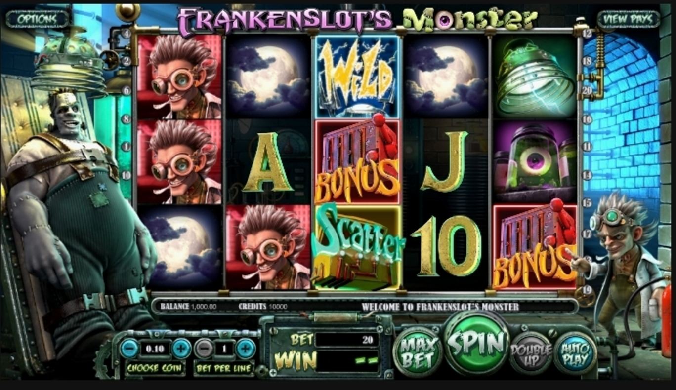 Reels in Frankenslot's Monster Slot Game by Betsoft