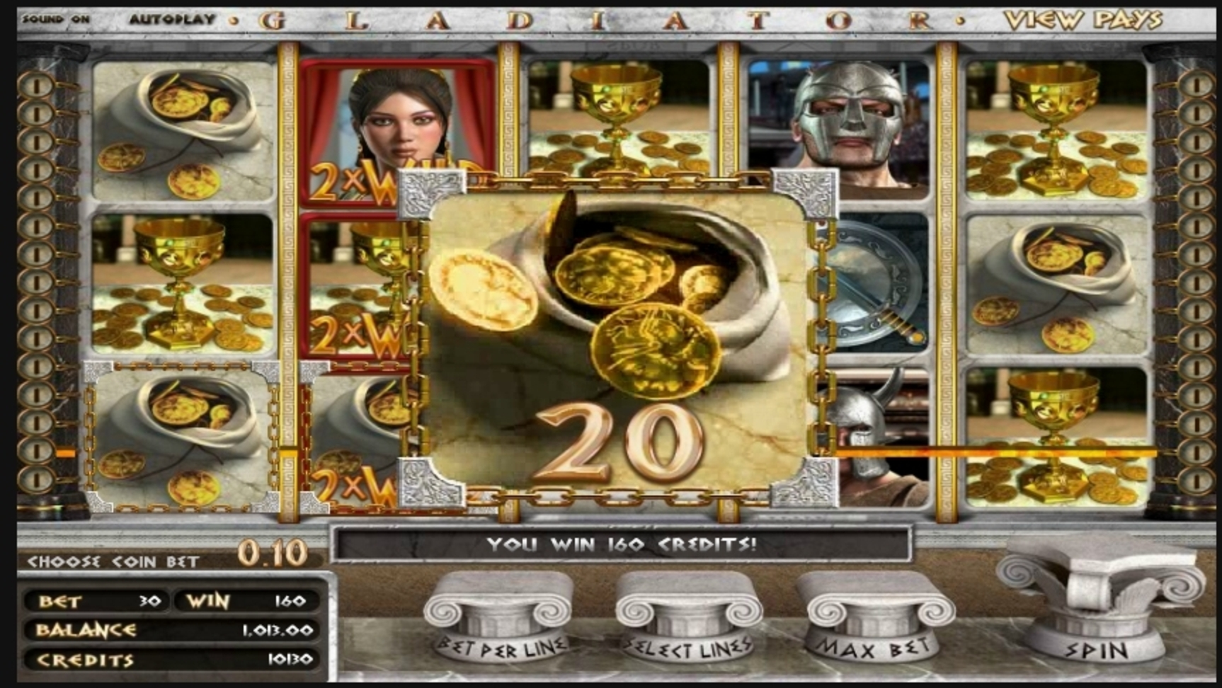 Win Money in Gladiator (Betsoft) Free Slot Game by Betsoft