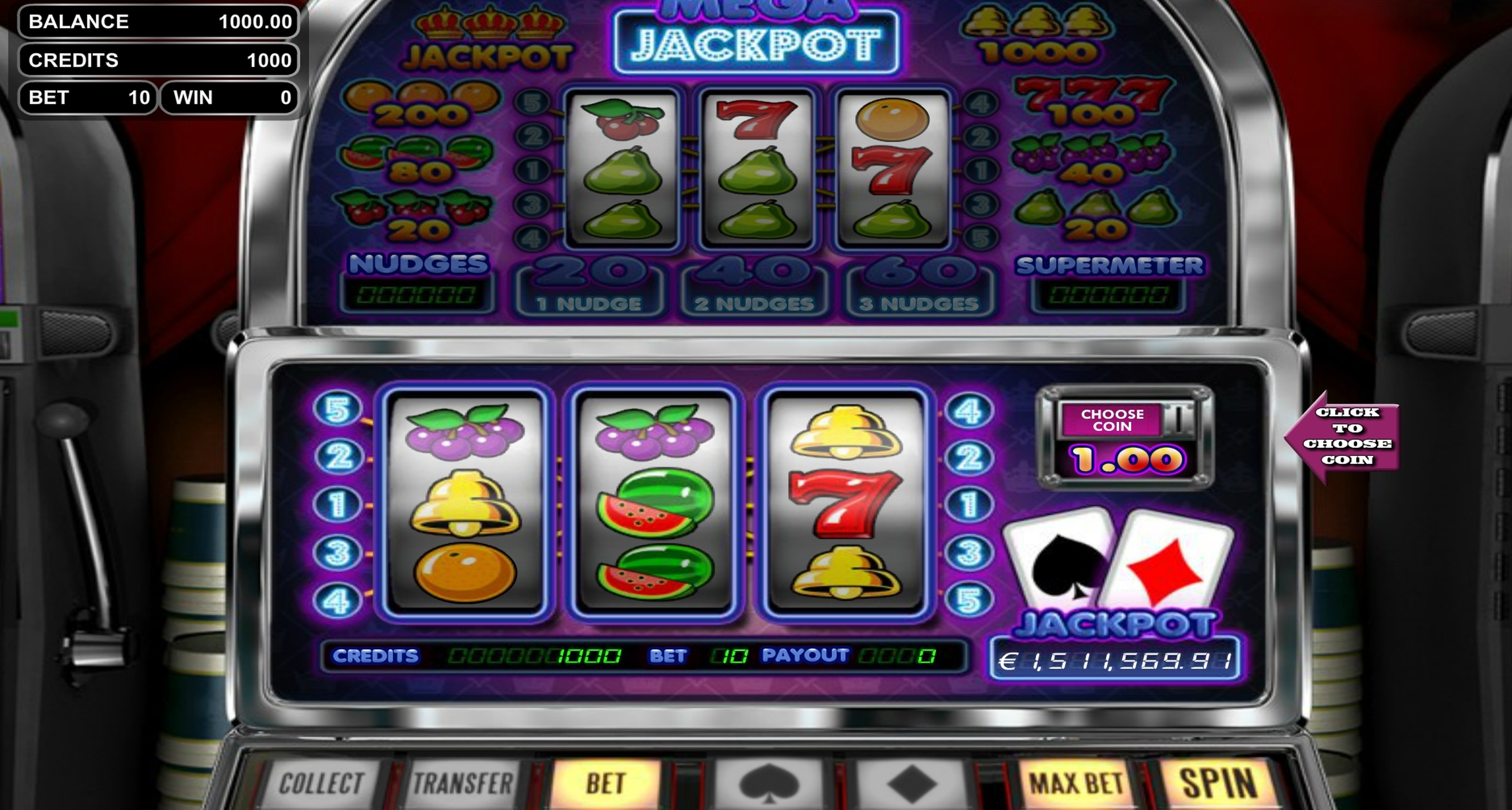 Reels in Mega Jackpot Slot Game by Betsoft