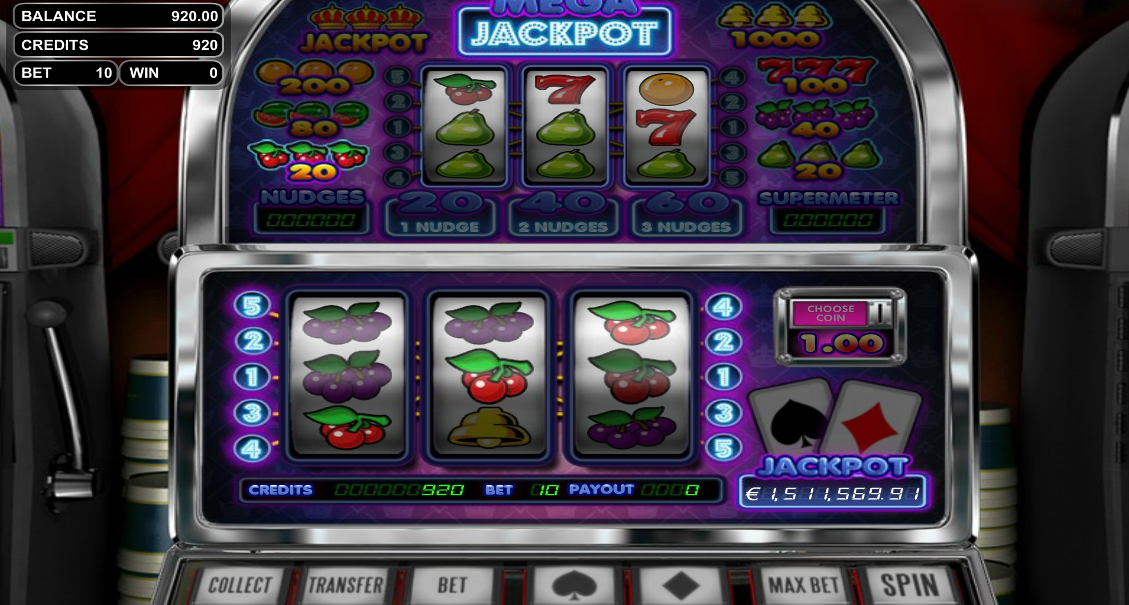 Win Money in Mega Jackpot Free Slot Game by Betsoft