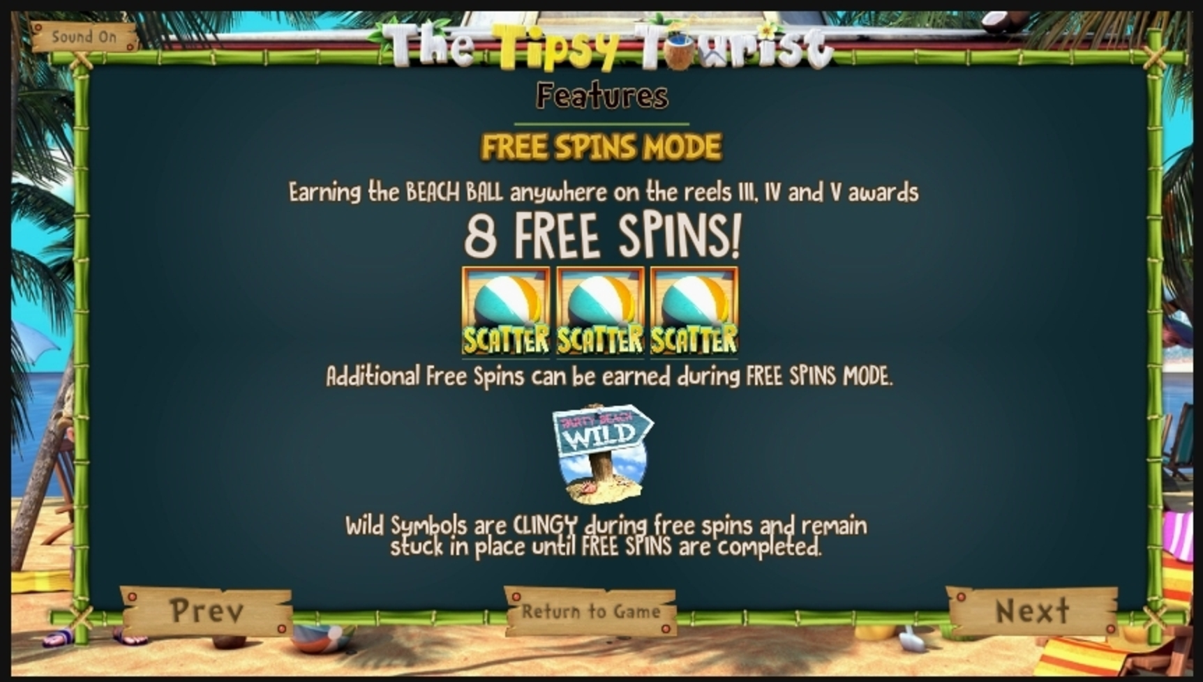 Info of The Tipsy Tourist Slot Game by Betsoft