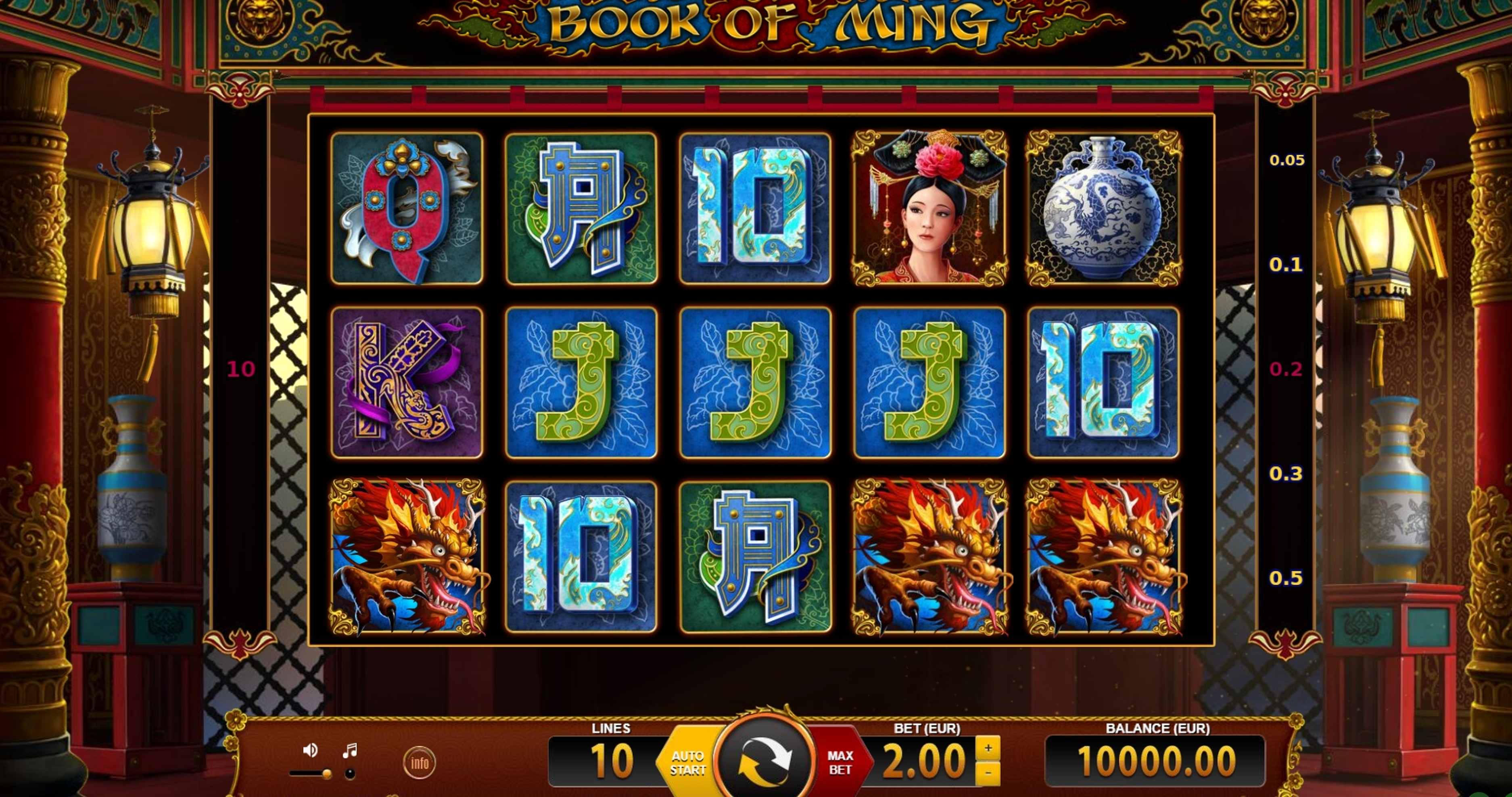 Reels in Book of Ming Slot Game by BF games
