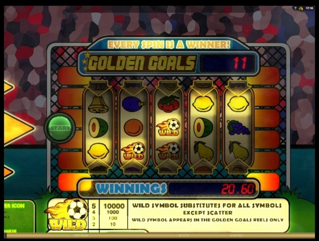 Win Money in Golden Goals Free Slot Game by Big Time Gaming