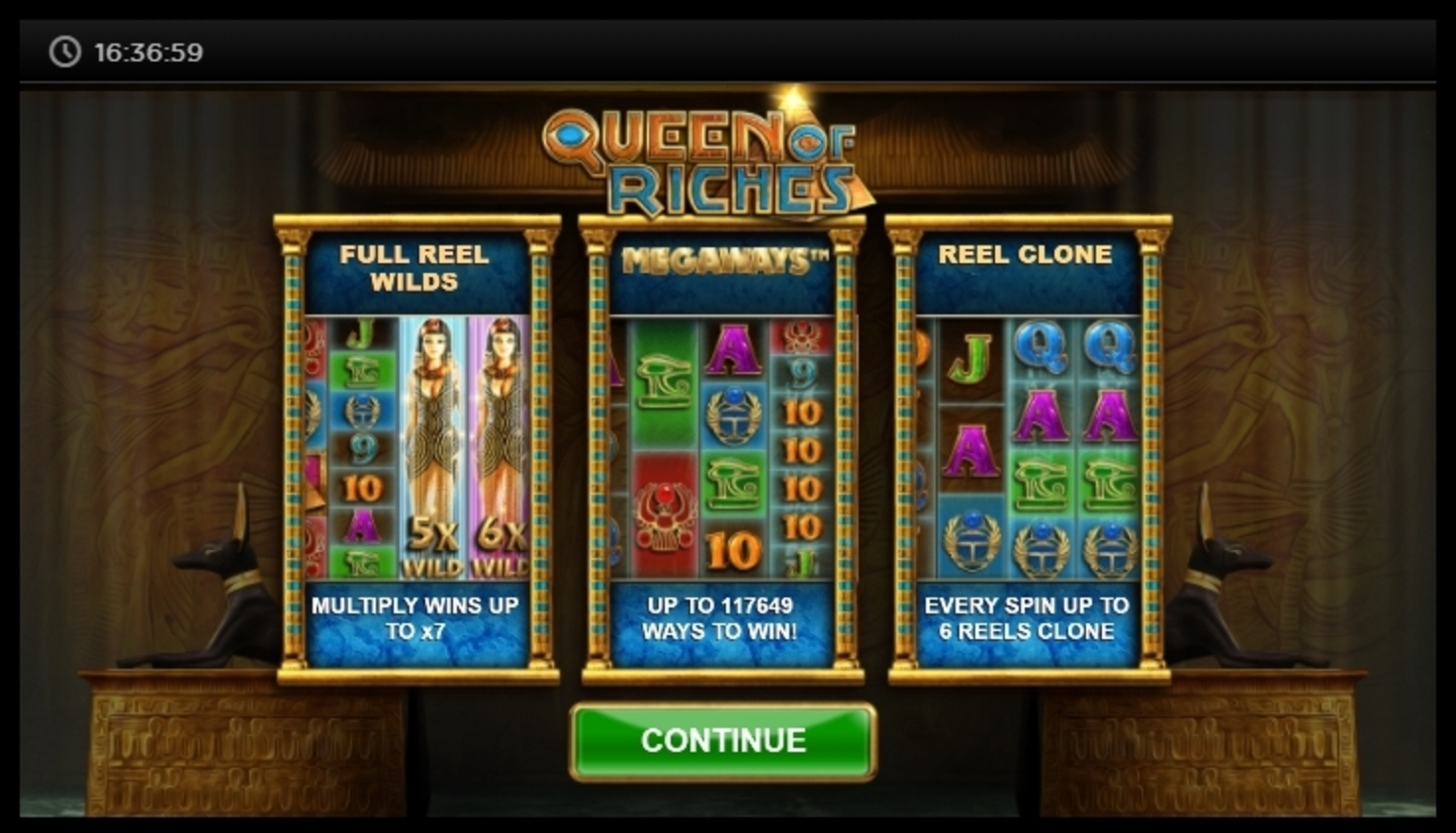 Play Queen of Riches Free Casino Slot Game by Big Time Gaming