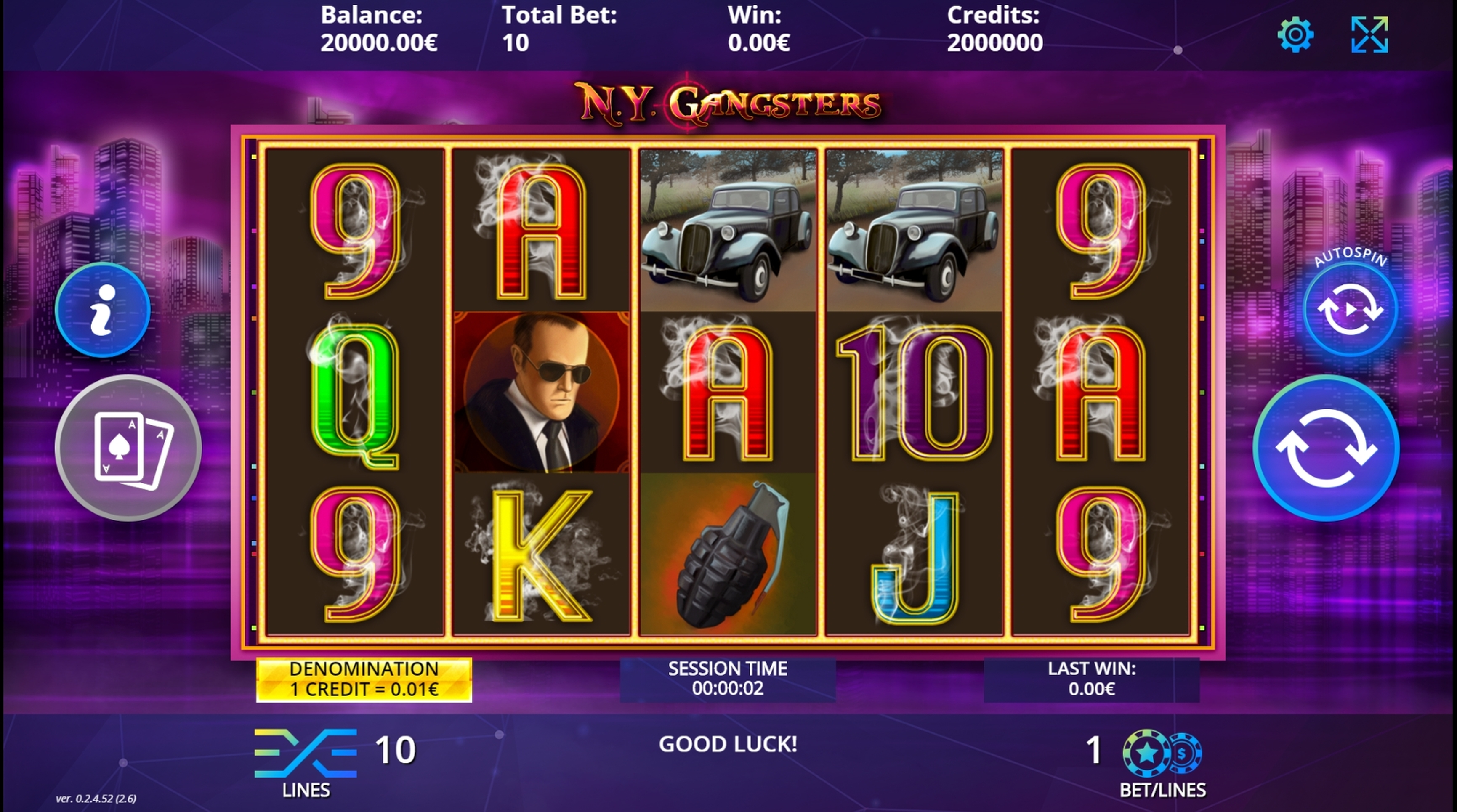 Reels in N.Y. Gangsters Slot Game by DLV