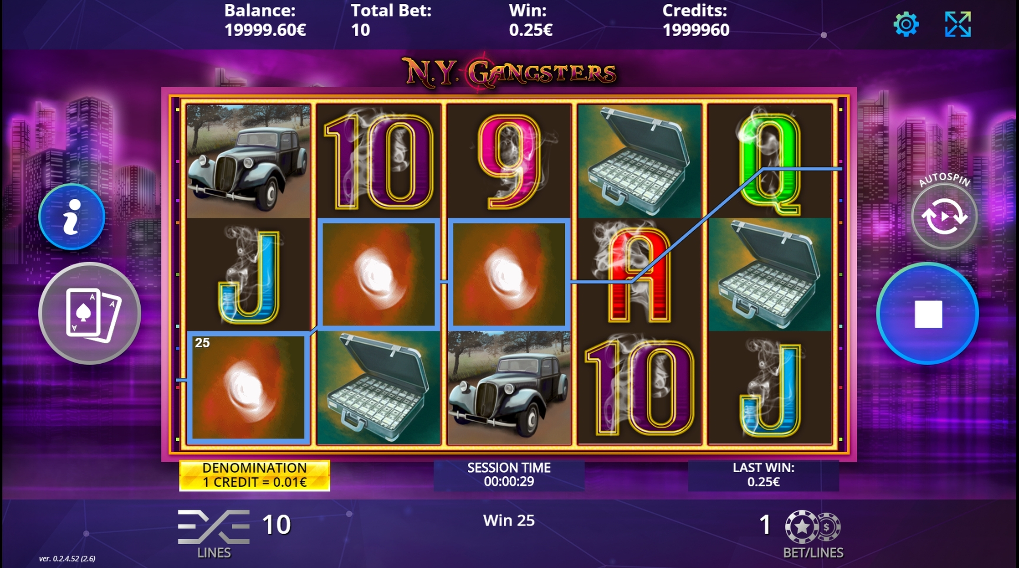 Win Money in N.Y. Gangsters Free Slot Game by DLV