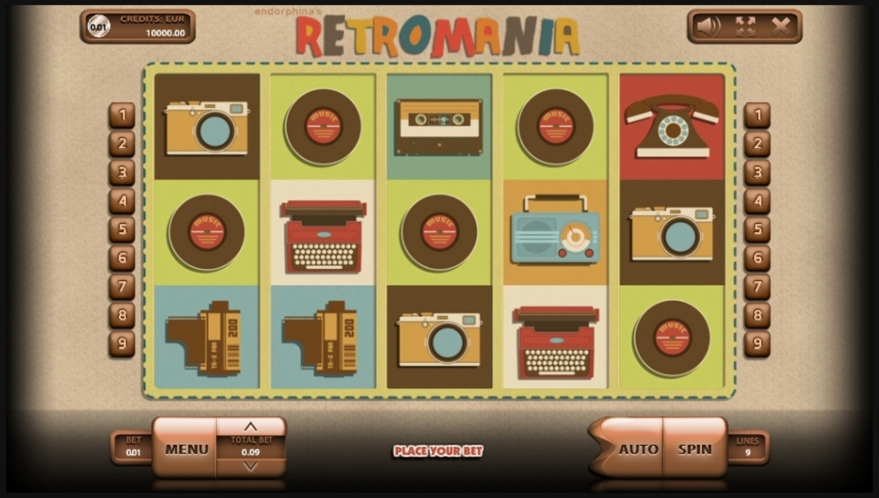 Reels in Retromania Slot Game by Endorphina