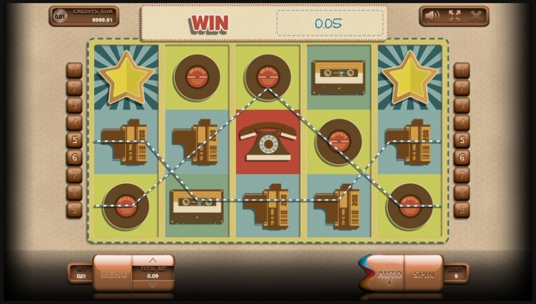 Win Money in Retromania Free Slot Game by Endorphina