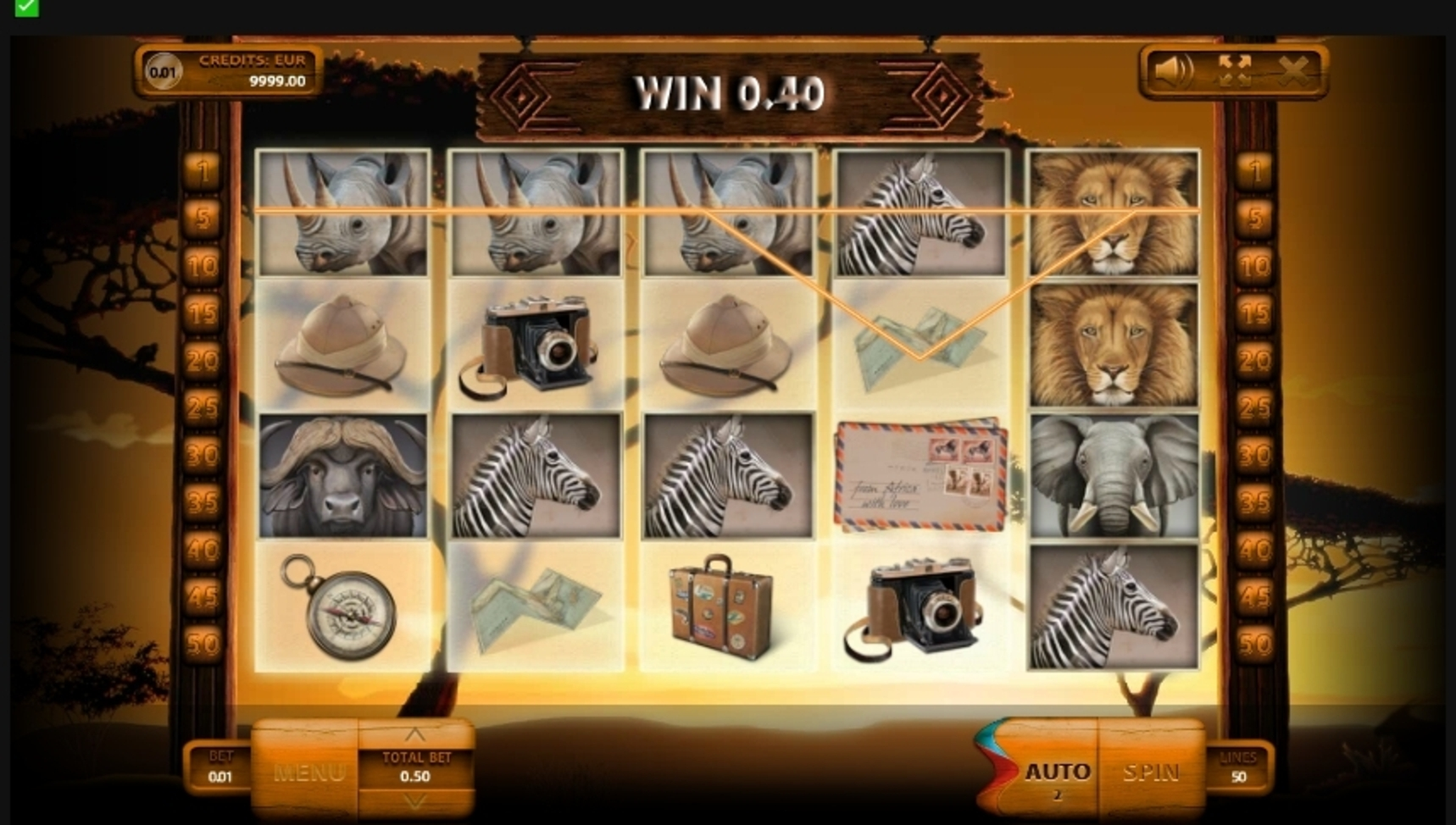 Win Money in Safari (Endorphina) Free Slot Game by Endorphina
