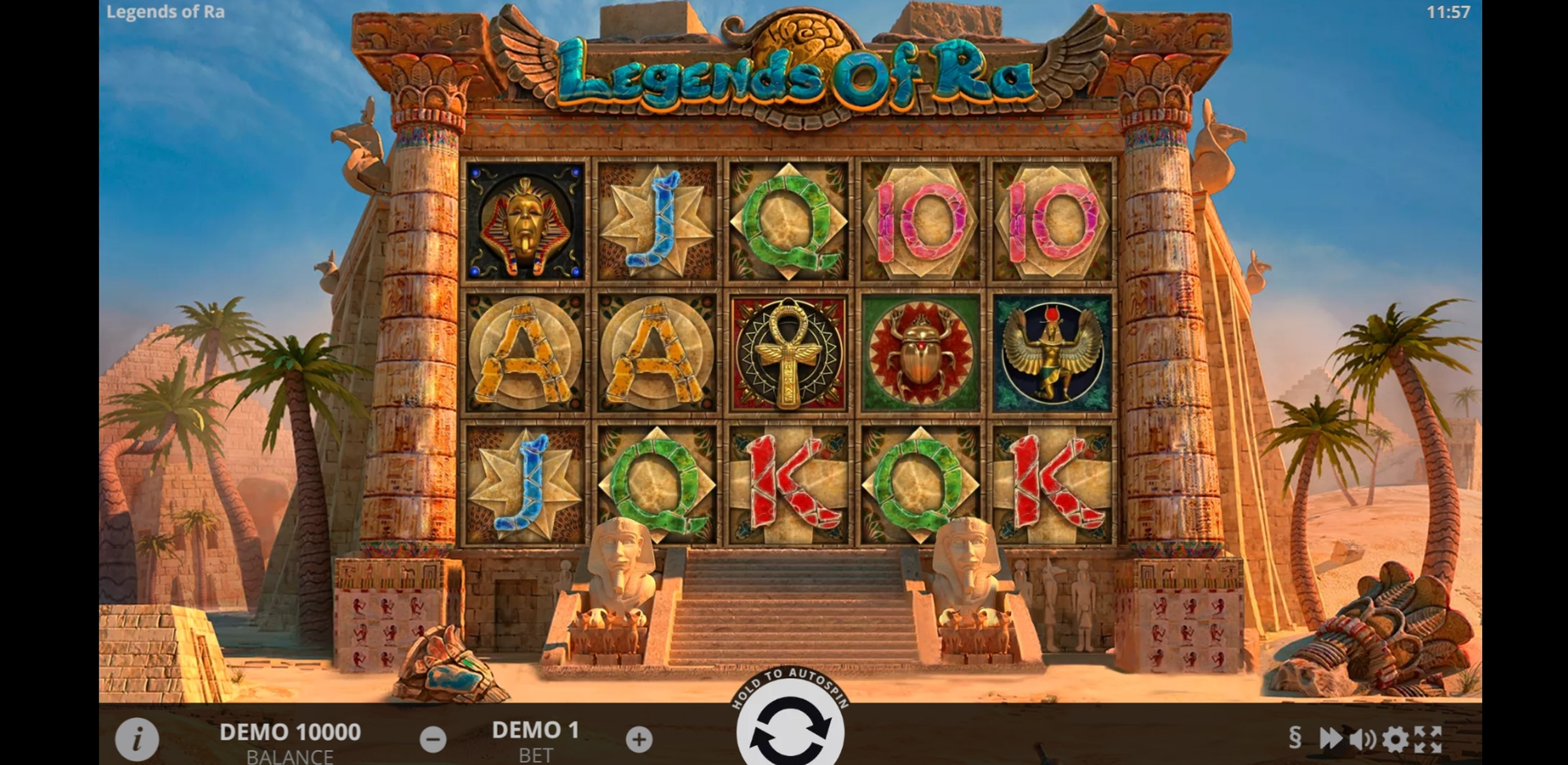 Reels in Legends of Ra Slot Game by Evoplay Entertainment