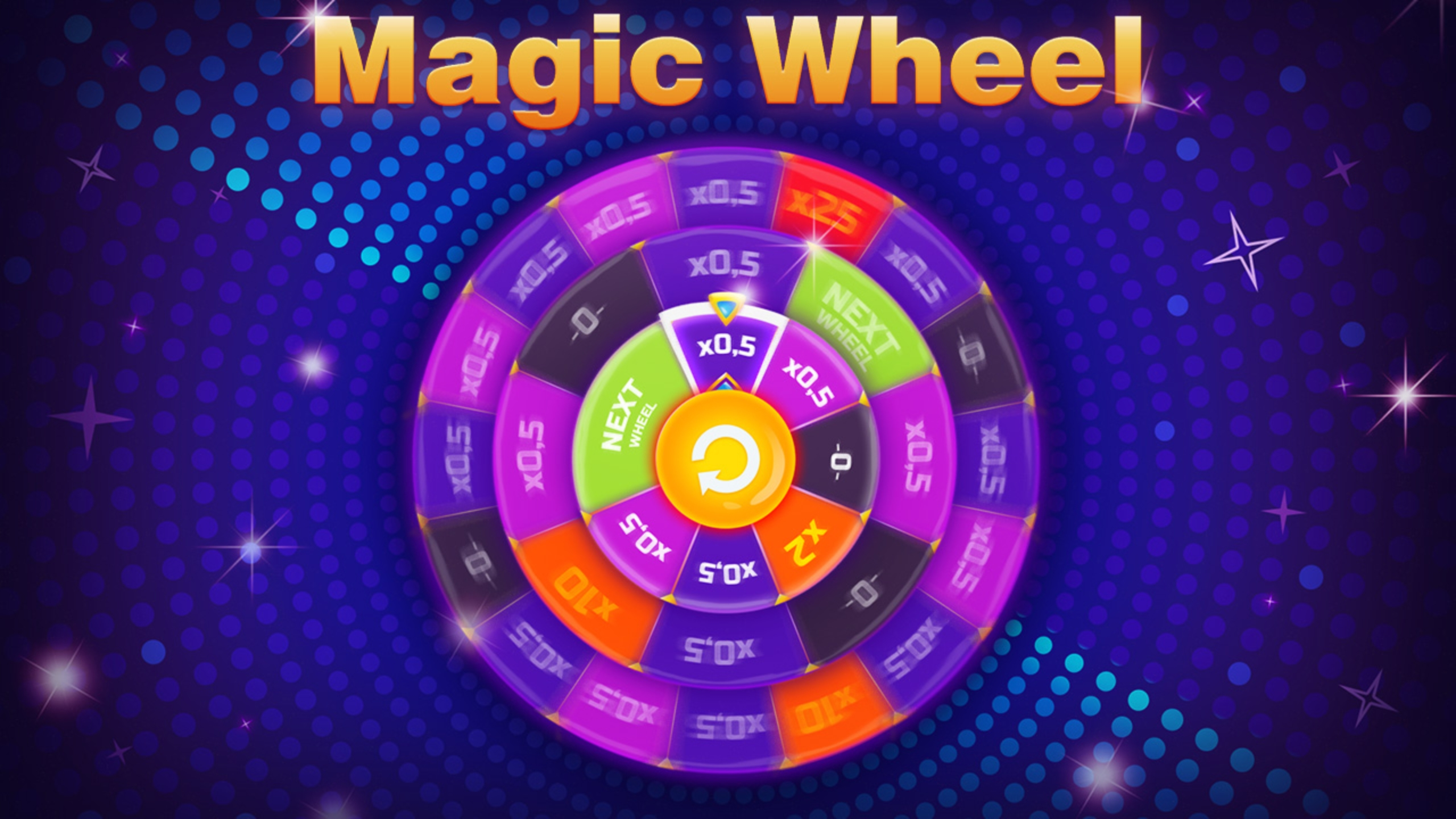 Reels in Magic Wheel Slot Game by Evoplay Entertainment