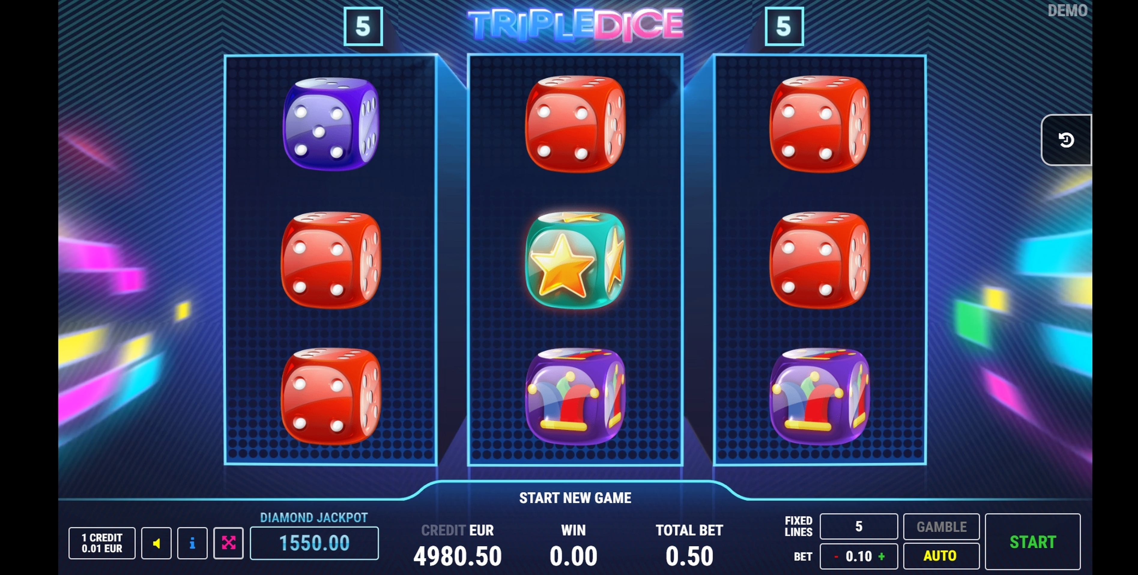 Win Money in Triple Dice Free Slot Game by Fazi Gaming