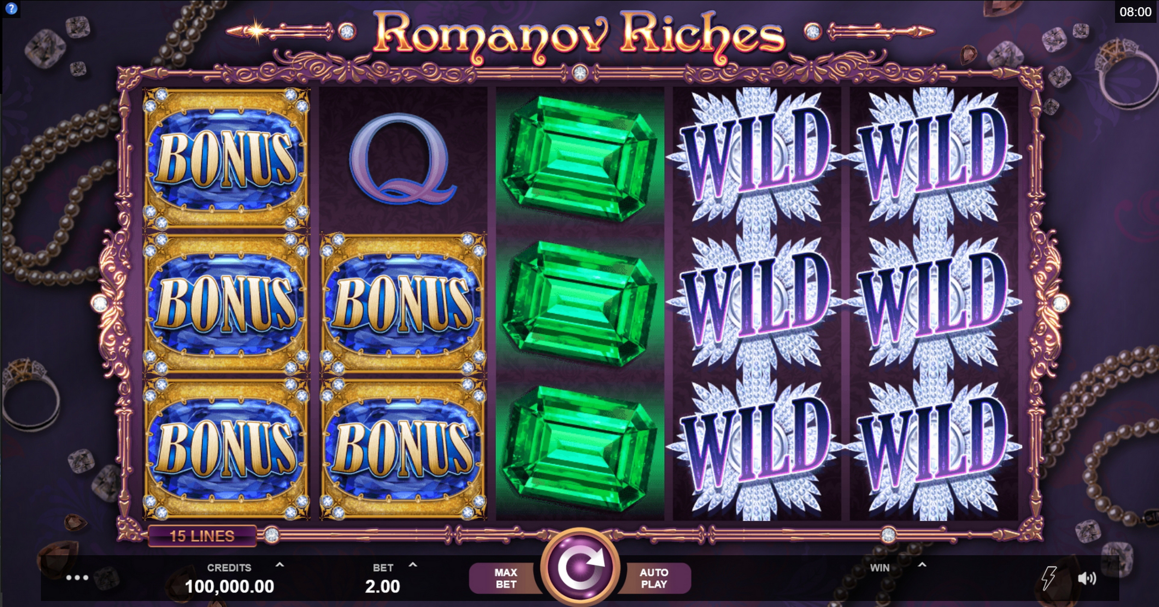 Reels in Romanov Riches Slot Game by Fortune Factory Studios