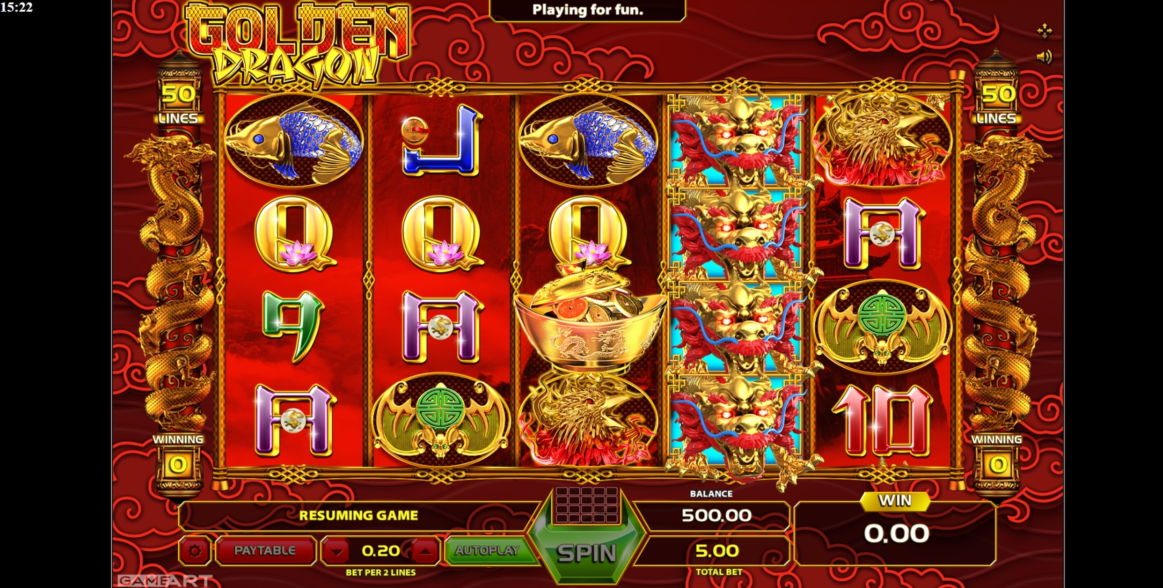 Reels in Golden Dragon (GameArt) Slot Game by GameArt