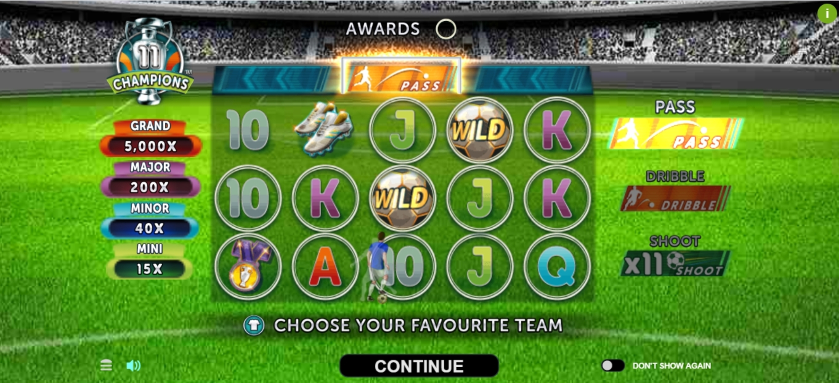 Play 11 Champions Free Casino Slot Game by Gameburger Studios