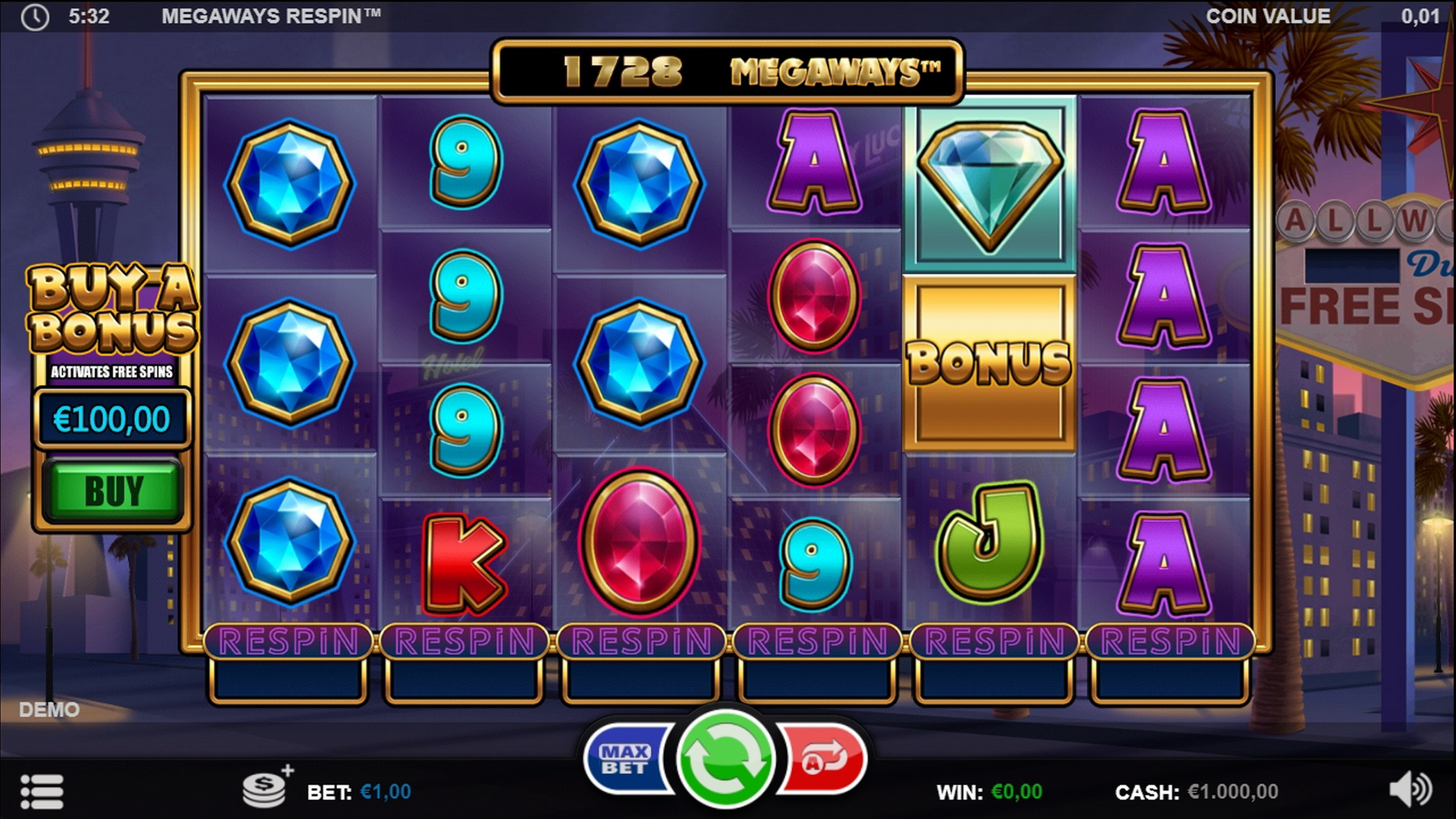 Reels in Megaways Respin Slot Game by Games Inc