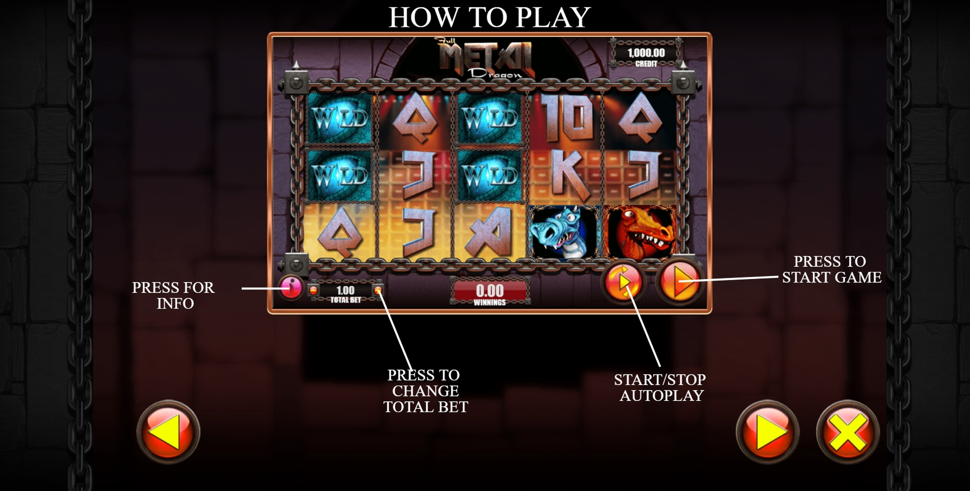 Info of Full Metal Dragon Slot Game by Games Warehouse