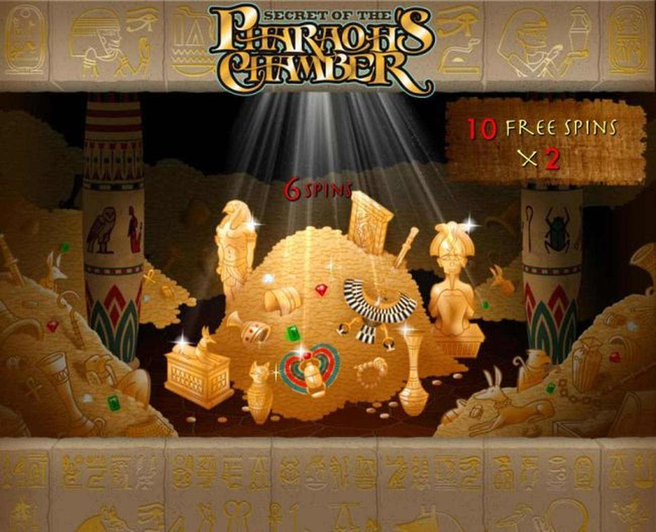 The Secret of the Pharaoh's Chamber Online Slot Demo Game by Gamesys