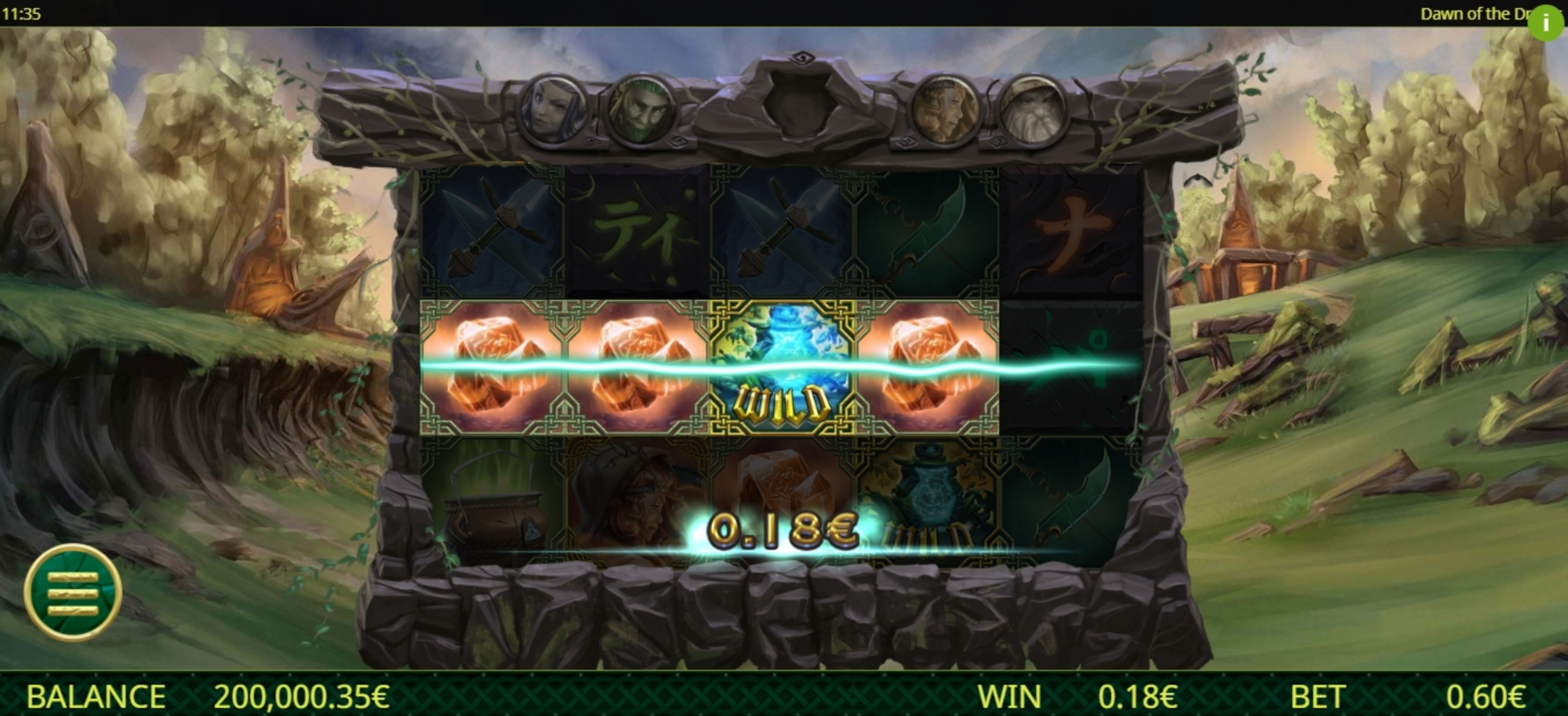Win Money in Dawn of the Druids Free Slot Game by Ganapati