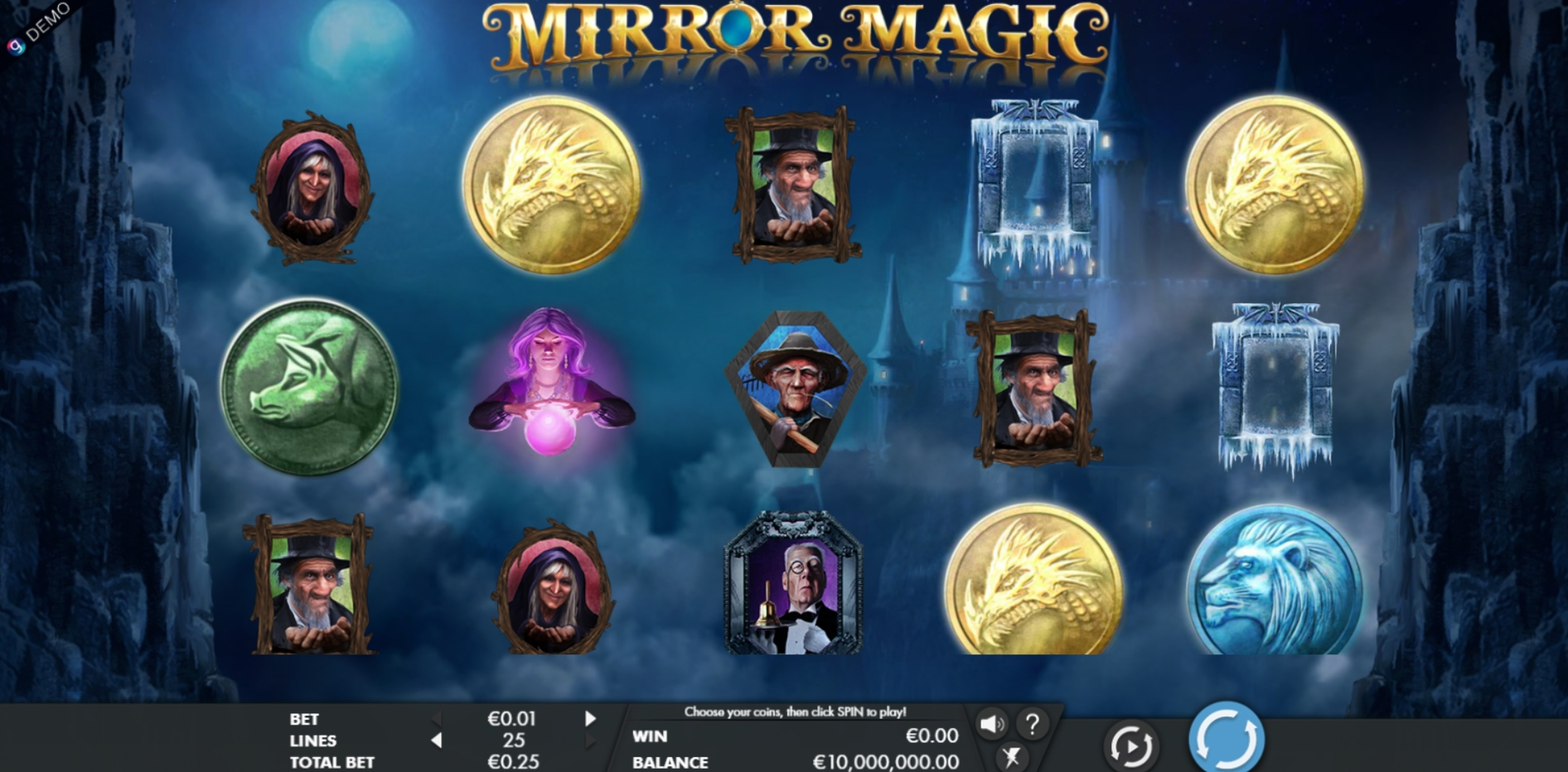Reels in Mirror Magic Slot Game by Genesis