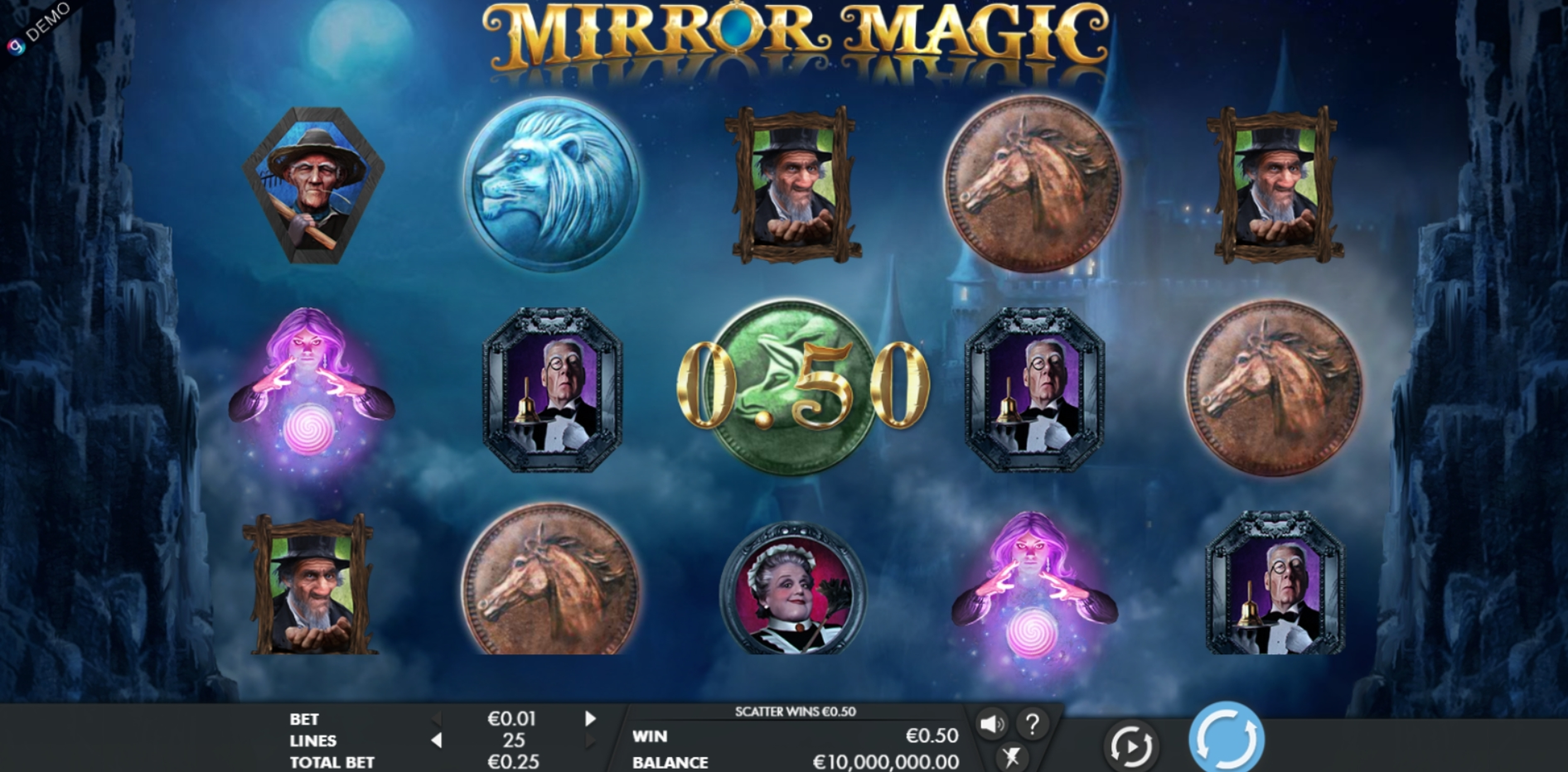 Win Money in Mirror Magic Free Slot Game by Genesis
