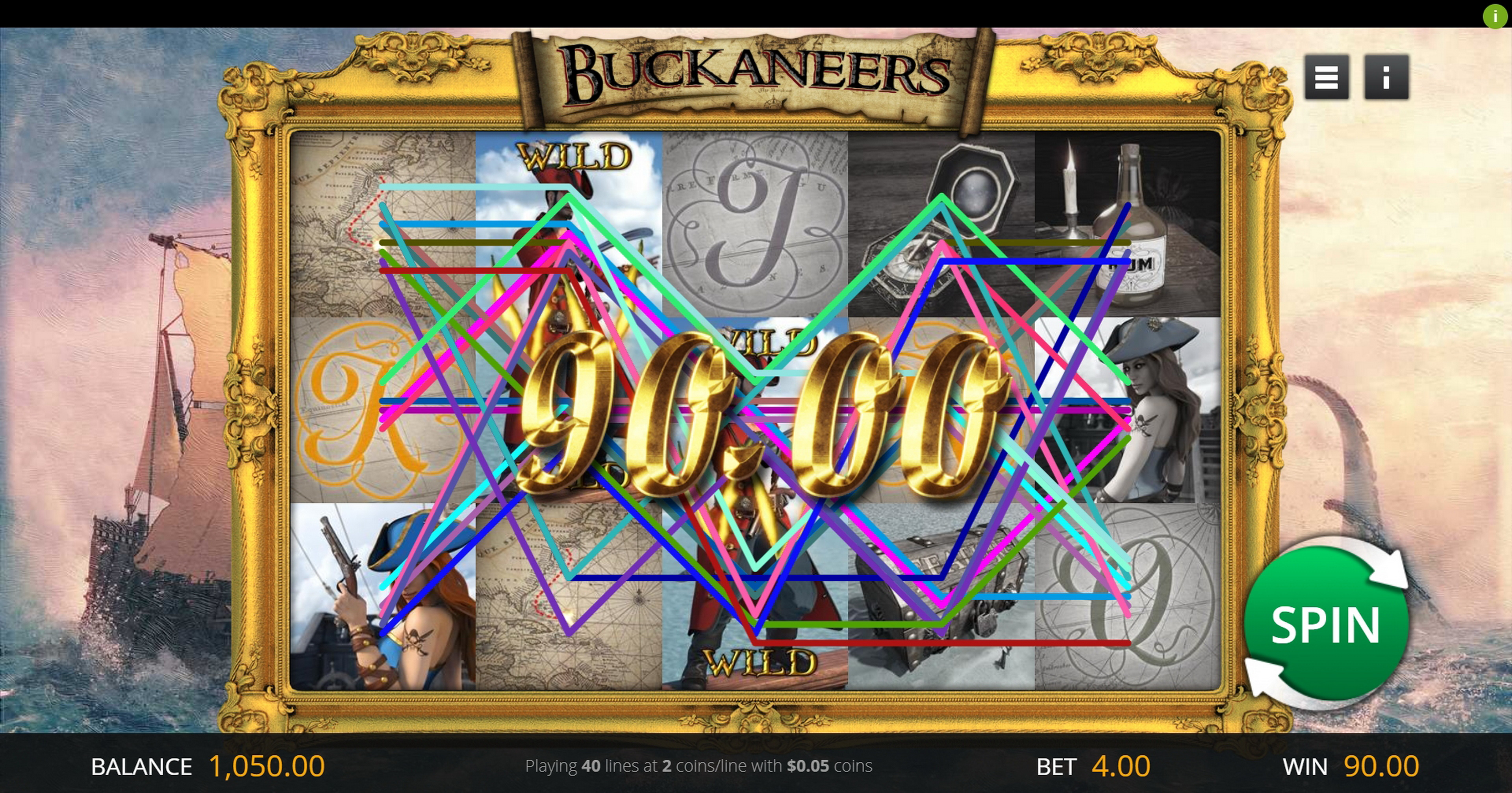 Win Money in Buckaneers Free Slot Game by Genii