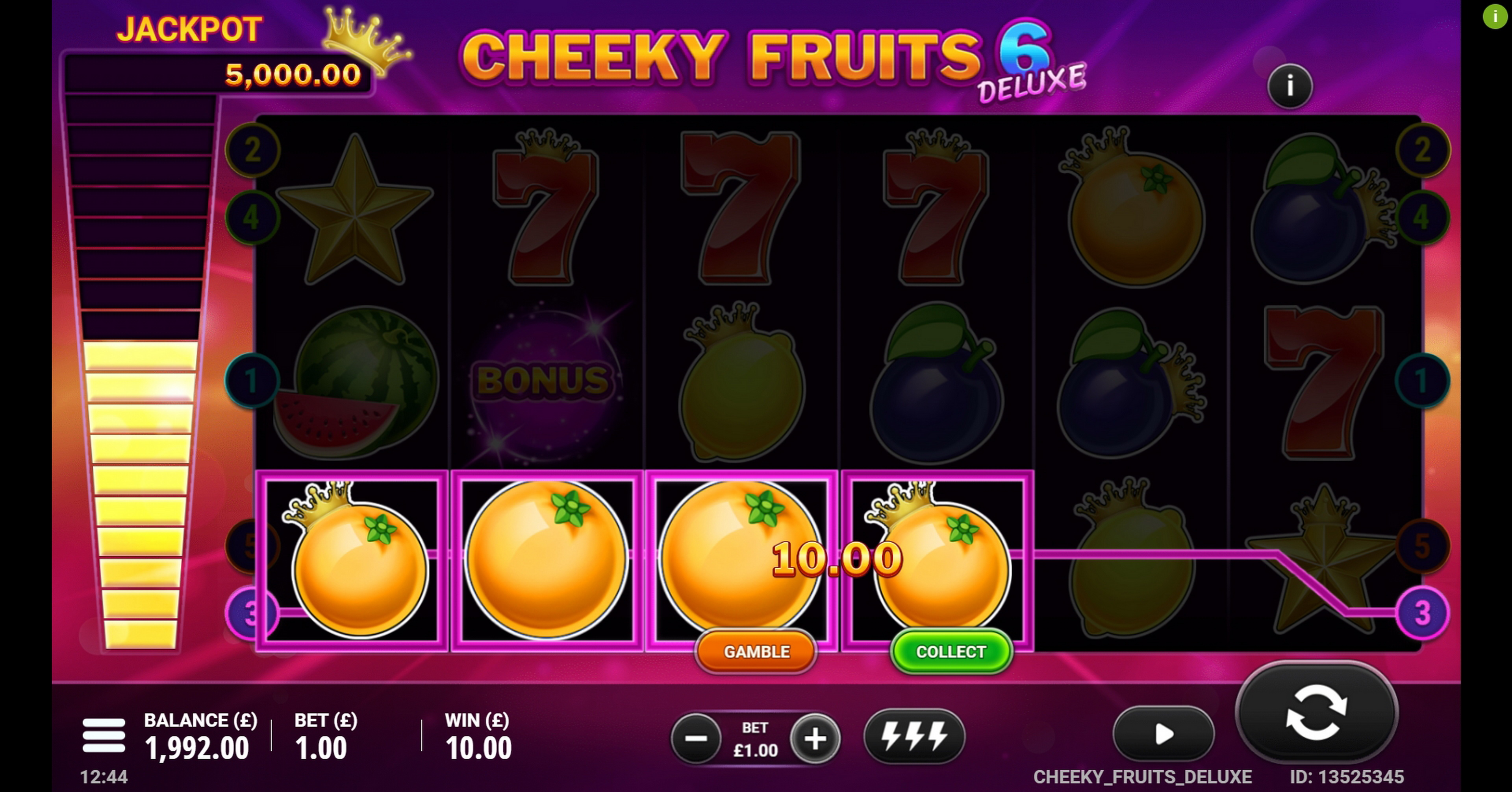 Win Money in Cheeky Fruits 6 Deluxe Free Slot Game by Gluck Games